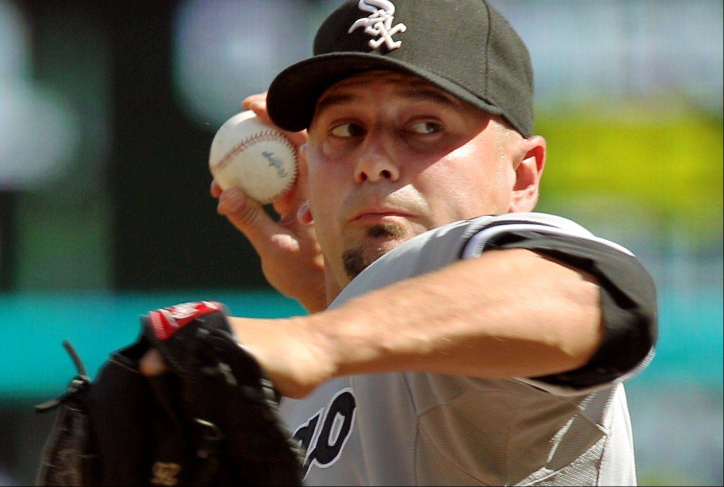 White Sox relief pitcher Jesse Crain pitched 12⁄3 perfect innings Monday and has 27 straight scoreless appearances. He has the most trade value on the roster.