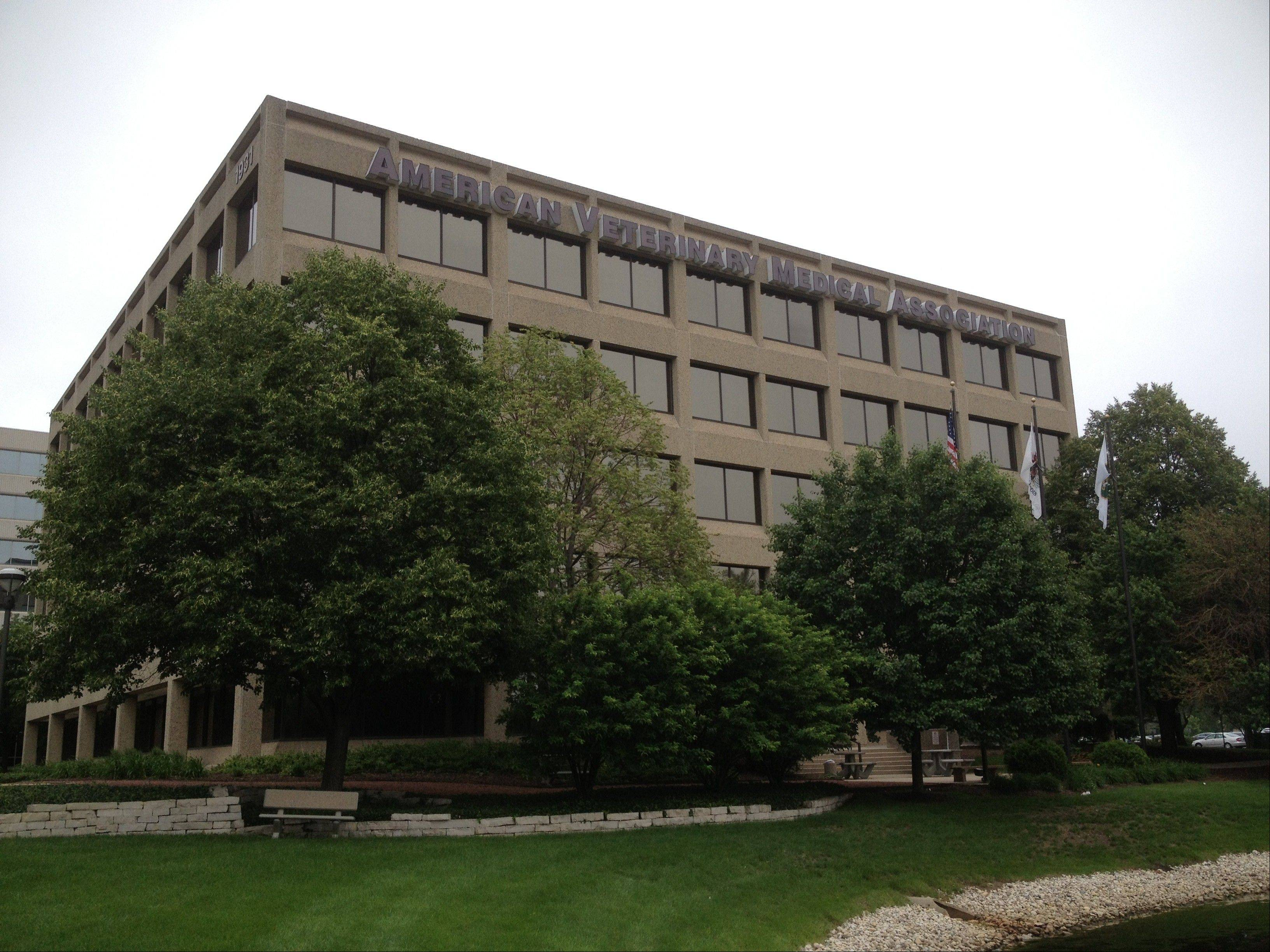 The American Veterinary Medical Association has been based in Schaumburg for 38 of its 150-year existence. This building at 1931 N. Meacham Road has been the group's headquarters since 1991.