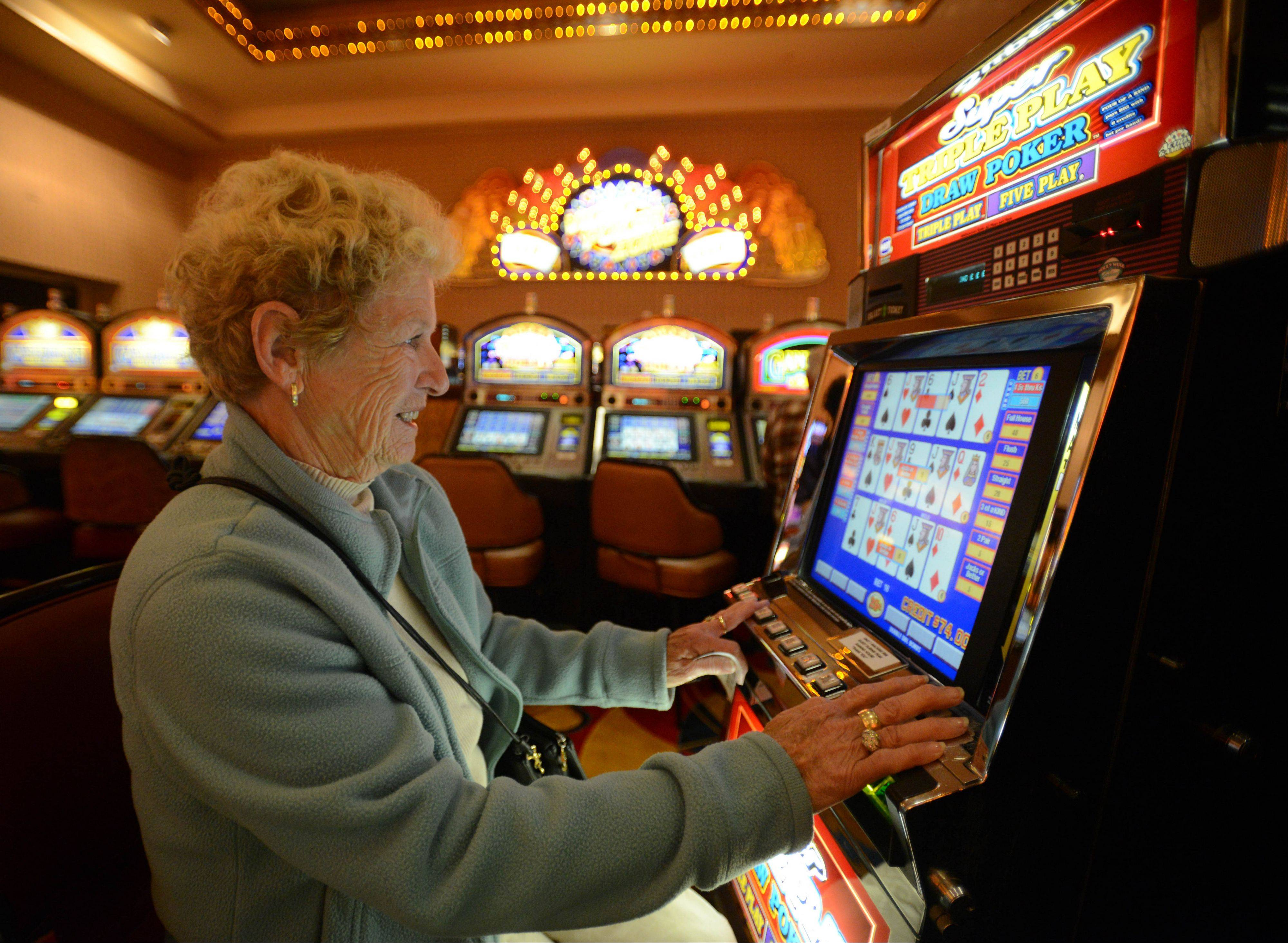 Bobbie Vallo of Naperville plays at Hollywood Casino Aurora during the establishment's 20th anniversary month. Hollywood Casino is celebrating two decades in business after opening June 17, 1993.