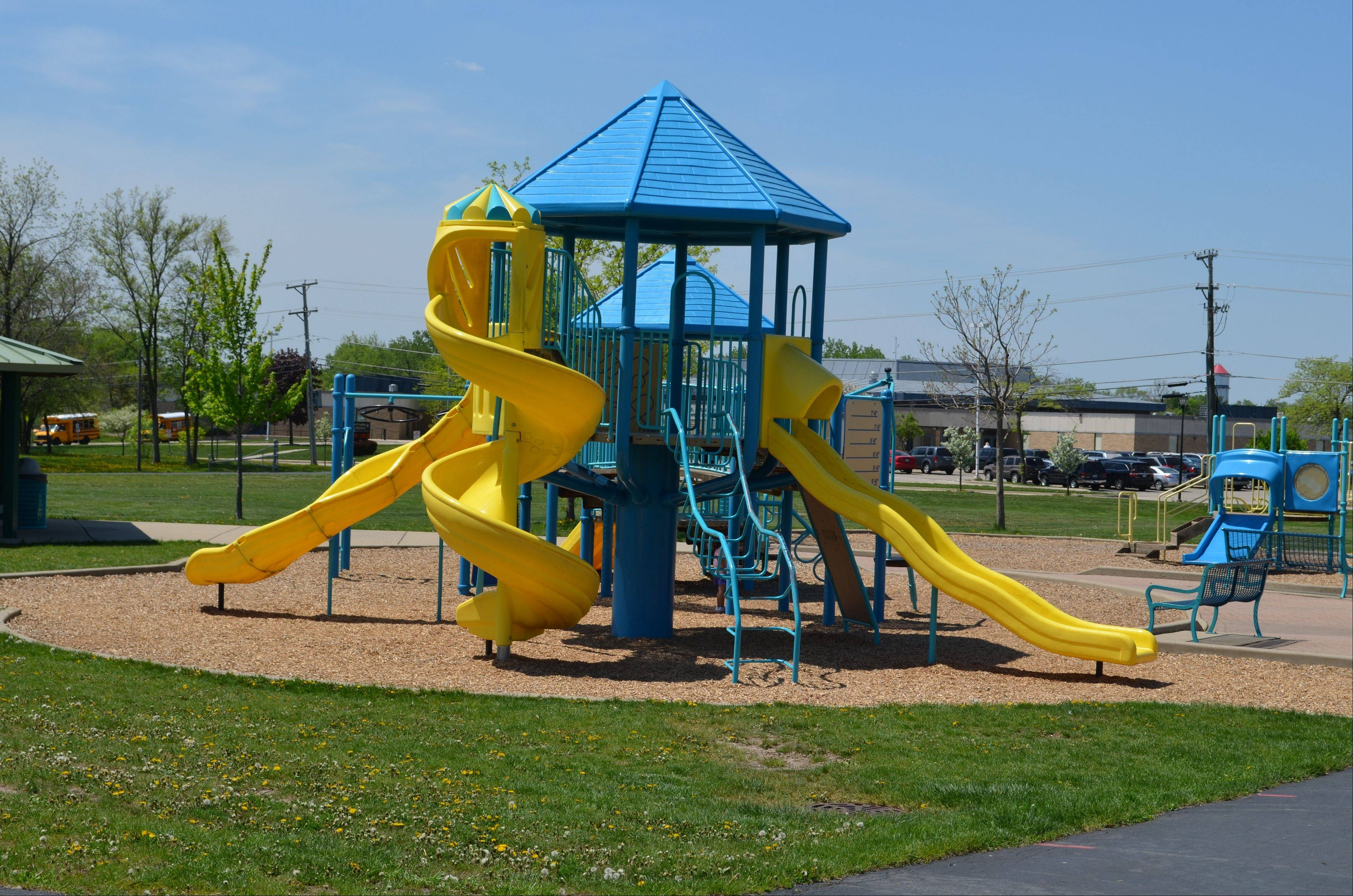 "The playground at the Tom T. Hamilton Reservoir in Palatine. Vote for the park to win grant money in the Coca-Cola ""America Is Your Park"" Contest."