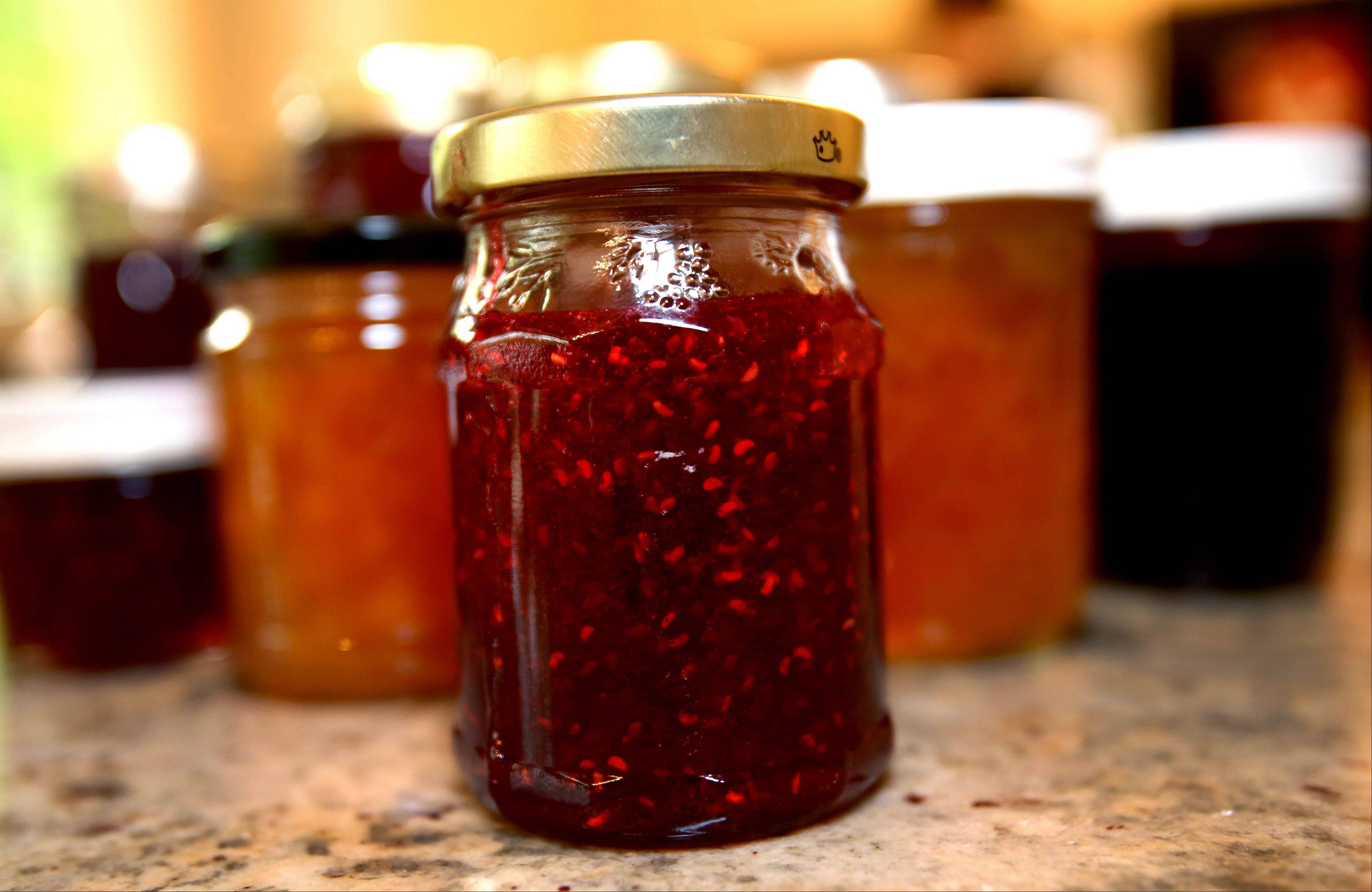 Trudy Van Slooten enjoys making fresh jam. She recommends topping jars of peach and strawberry jam with paraffin wax.