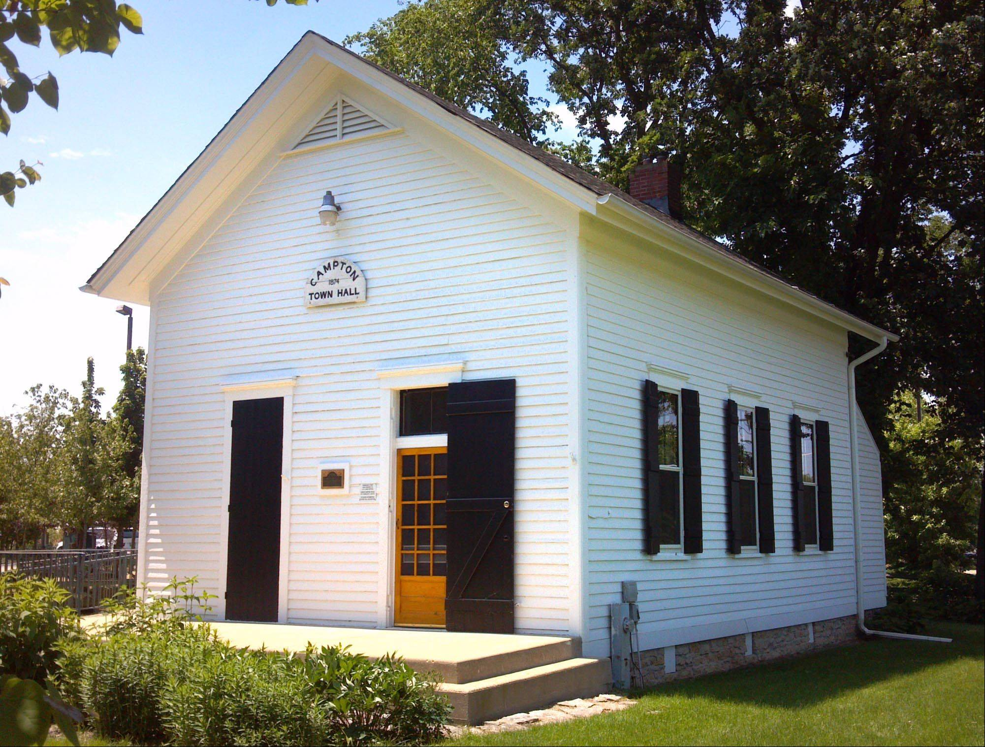 The original Campton Township Town Hall was built in 1874 and is on the Kane County and National Register of Historic Places. It was renovated through a riverboat grant in 2011 and will be used for educational purposes. An open house will be held from 11 a.m. to 3 p.m. Saturday at 4N498 Town Hall Road, Campton Township.
