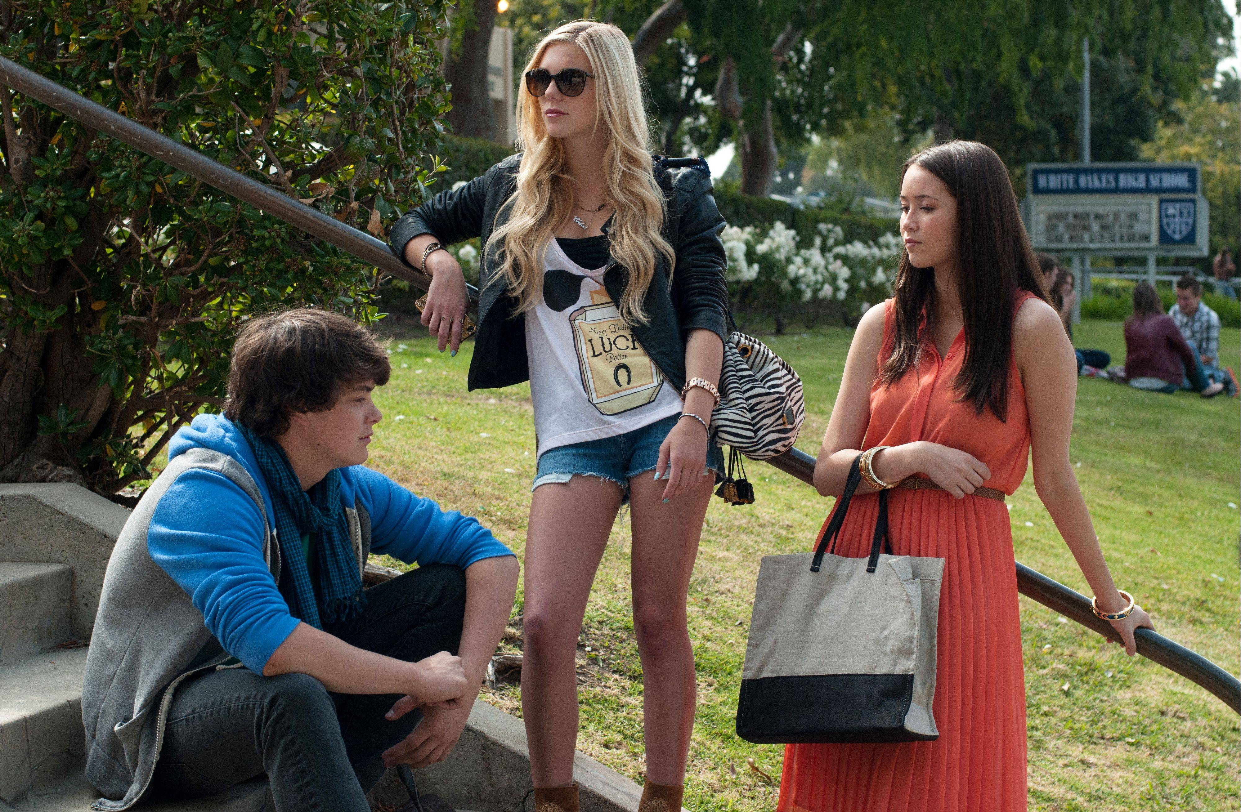"New Trier High School graduate Katie Chang, right, joins co-stars Israel Broussard and Claire Vivien in director Sofia Coppola's ""The Bling Ring."""