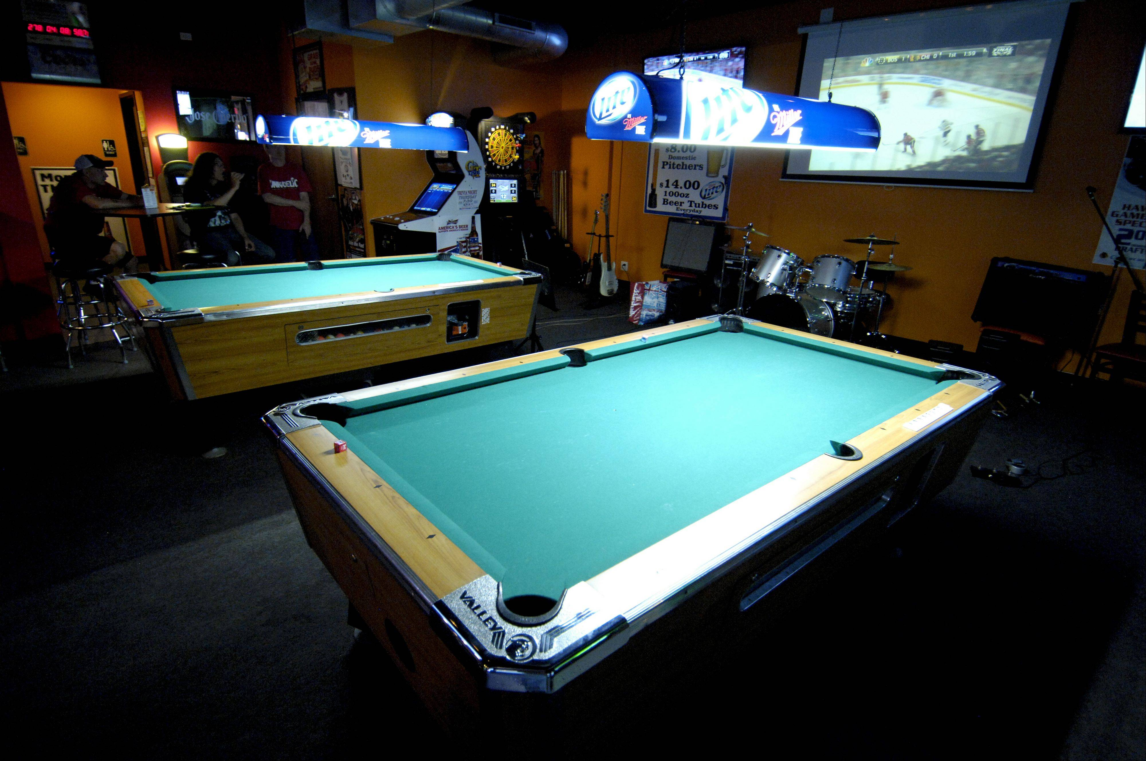Pool tables are among the draws at Overtime Bar & Grill in Lombard.