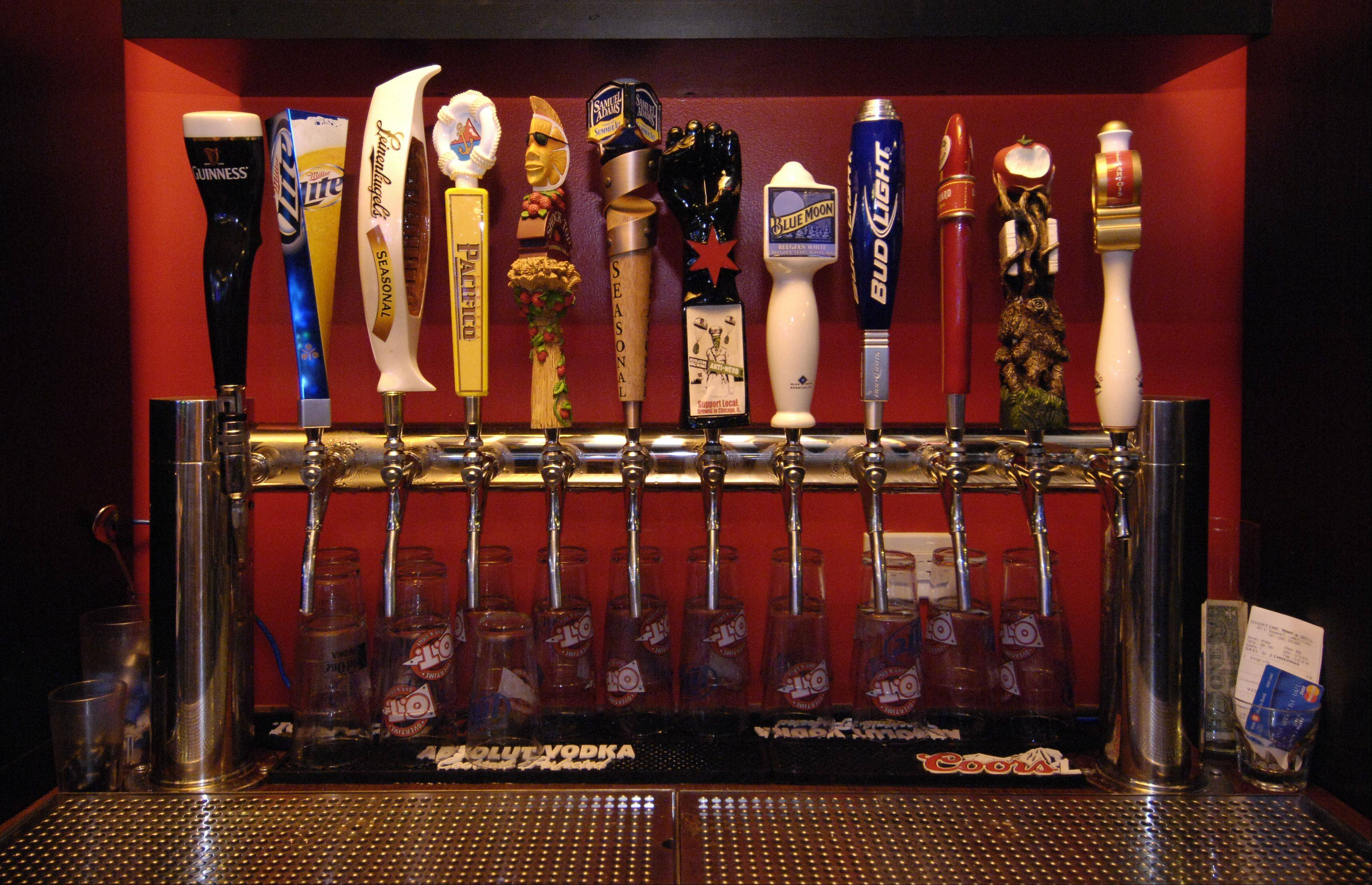 Overtime Bar & Grill has a selection of brews on tap.