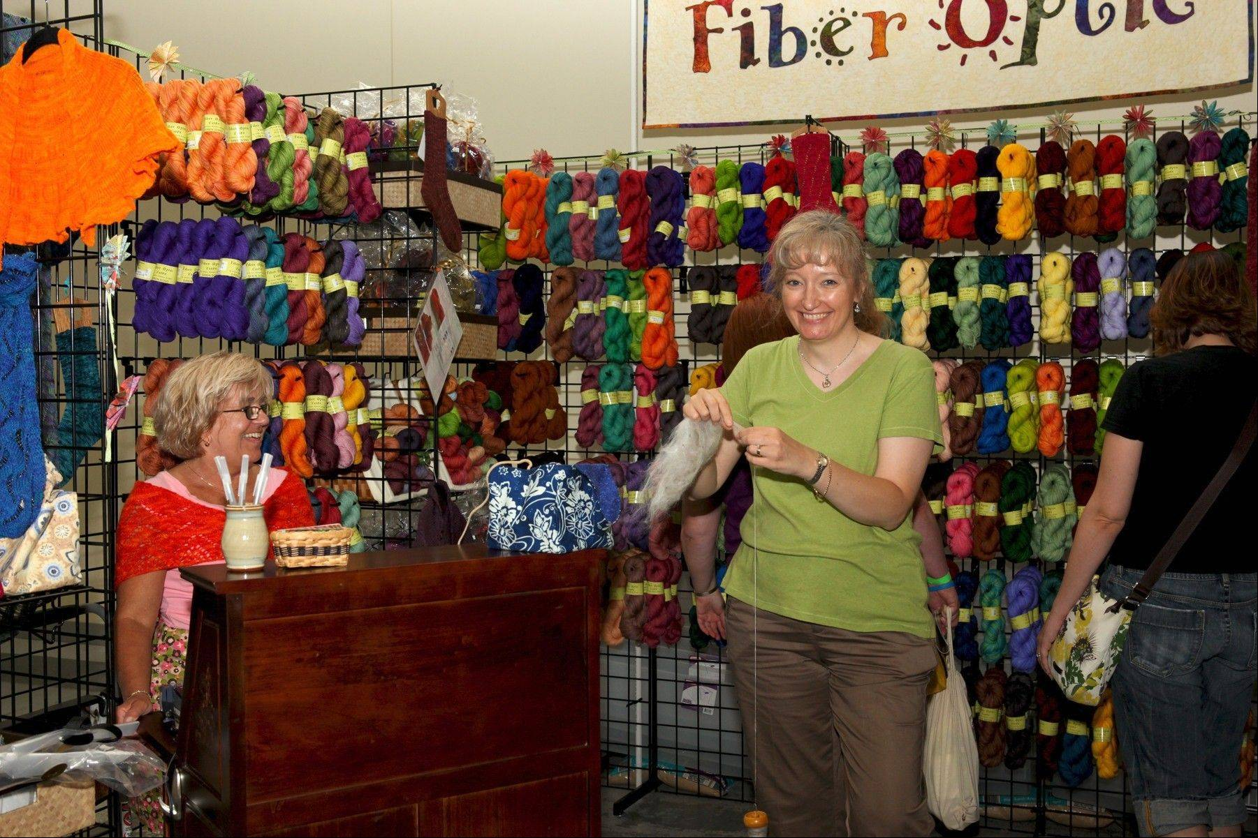 Hand-dyed yarns and fiber will be among the items for sale in the Vendor Marketplace at the 2013 Midwest Fiber & Folk Art Fair at the Lake County Fairgrounds in Grayslake.