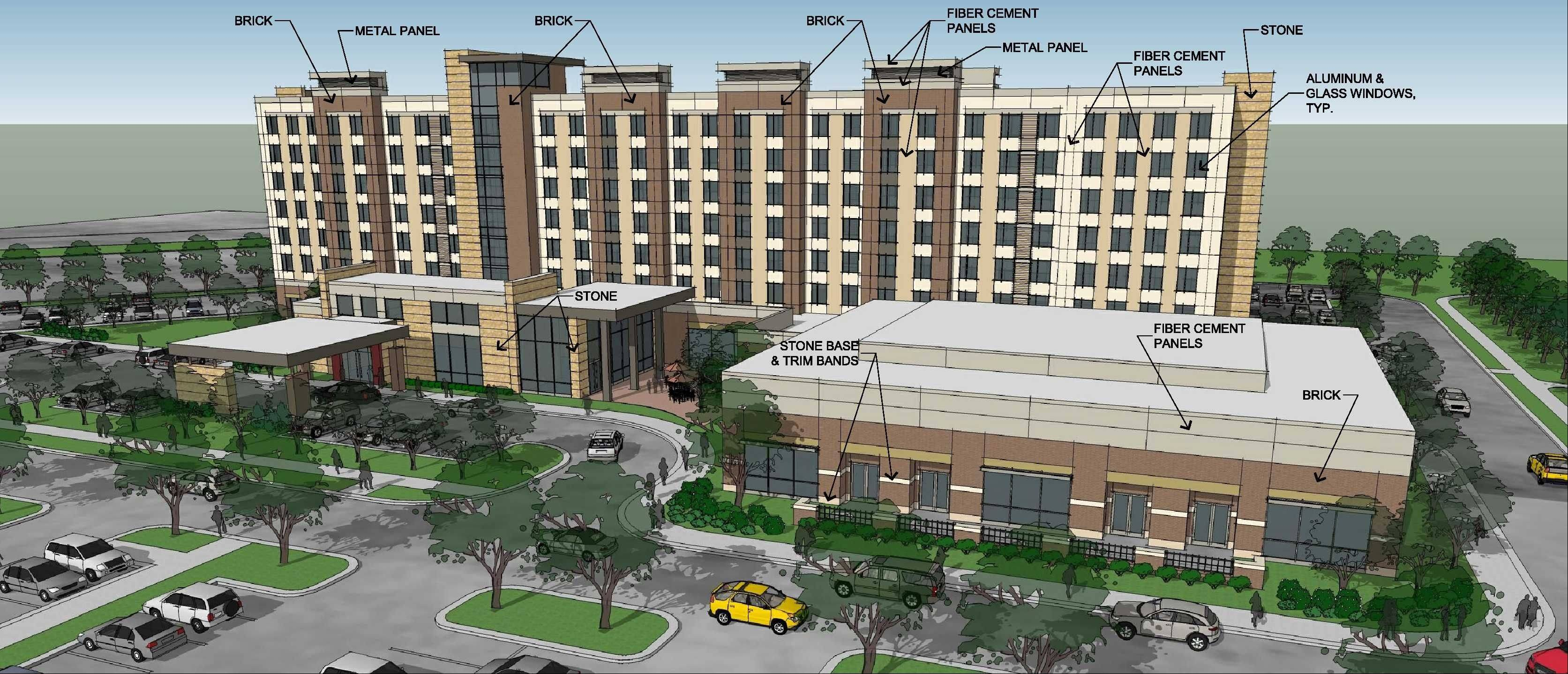 Naperville city councilmen indicated they are willing to provide a $7.5 million incentive package to developers of Freedom Plaza, which is slated to include an Embassy Suites hotel, a large-scale conference center and ballroom and four free-standing restaurants on Abriter Court north of Diehl Road.