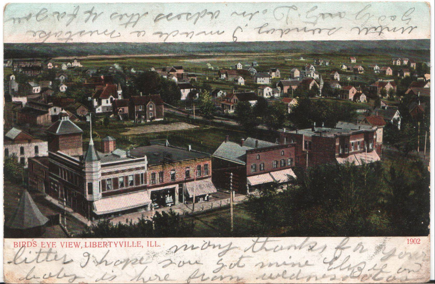 This postcard from a collection to be displayed this week at St. Lawrence Episcopal Church in Libertyville shows the village as it was in 1902