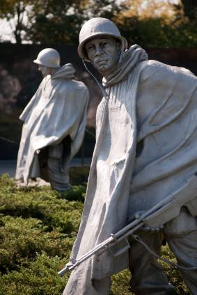 Korean War veterans memorial.