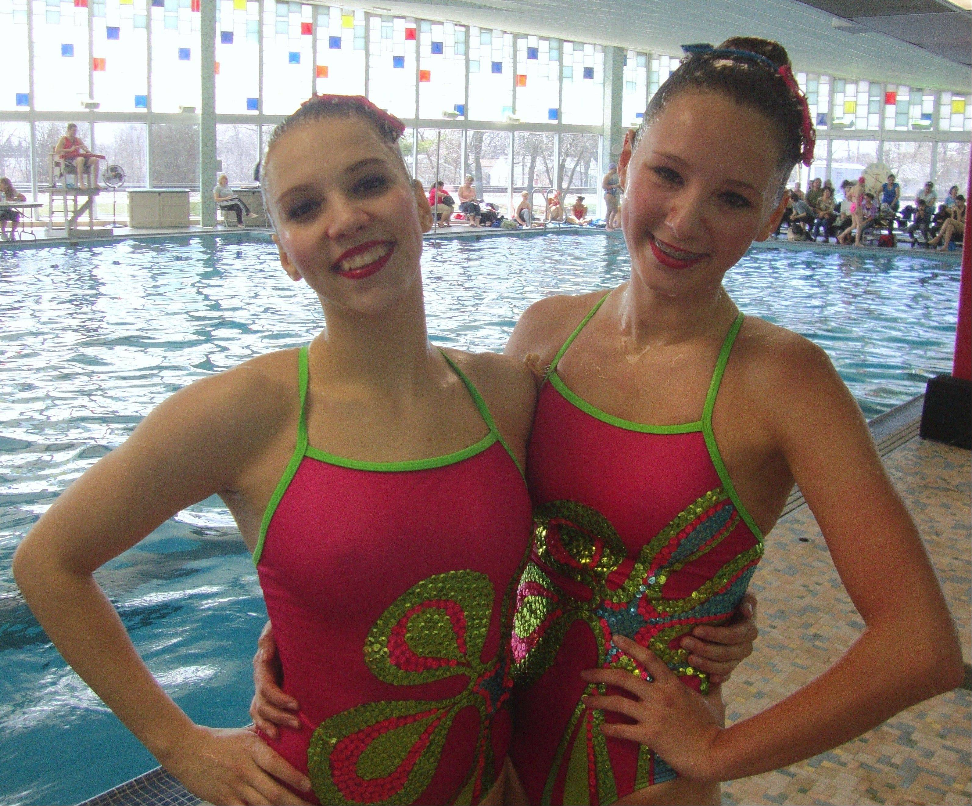 AquaSprites duo Sasha Boudko and Jenna Gudritz.