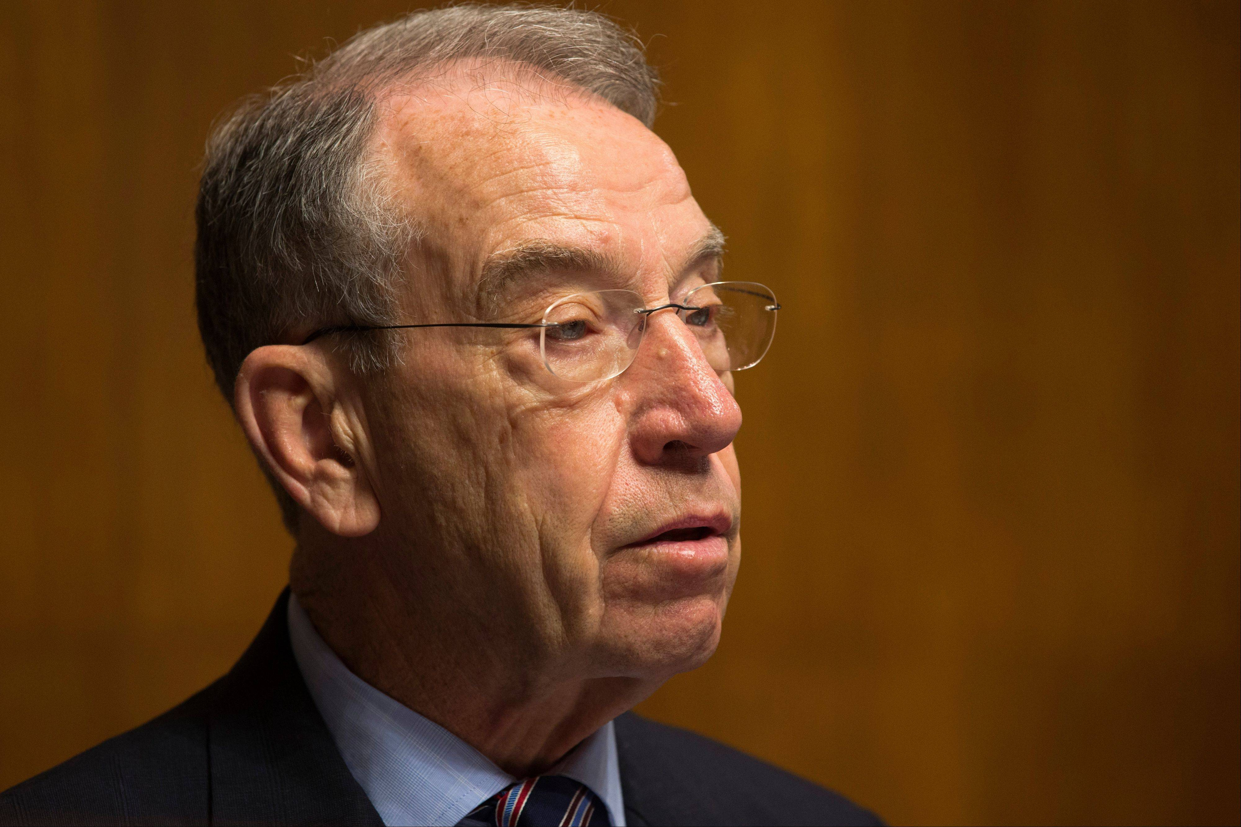 Sen. Chuck Grassley, R-Iowa, says the Internal Revenue Service is about to pay $70 million in employee bonuses despite an Obama administration directive to cancel discretionary bonuses because of automatic spending cuts.