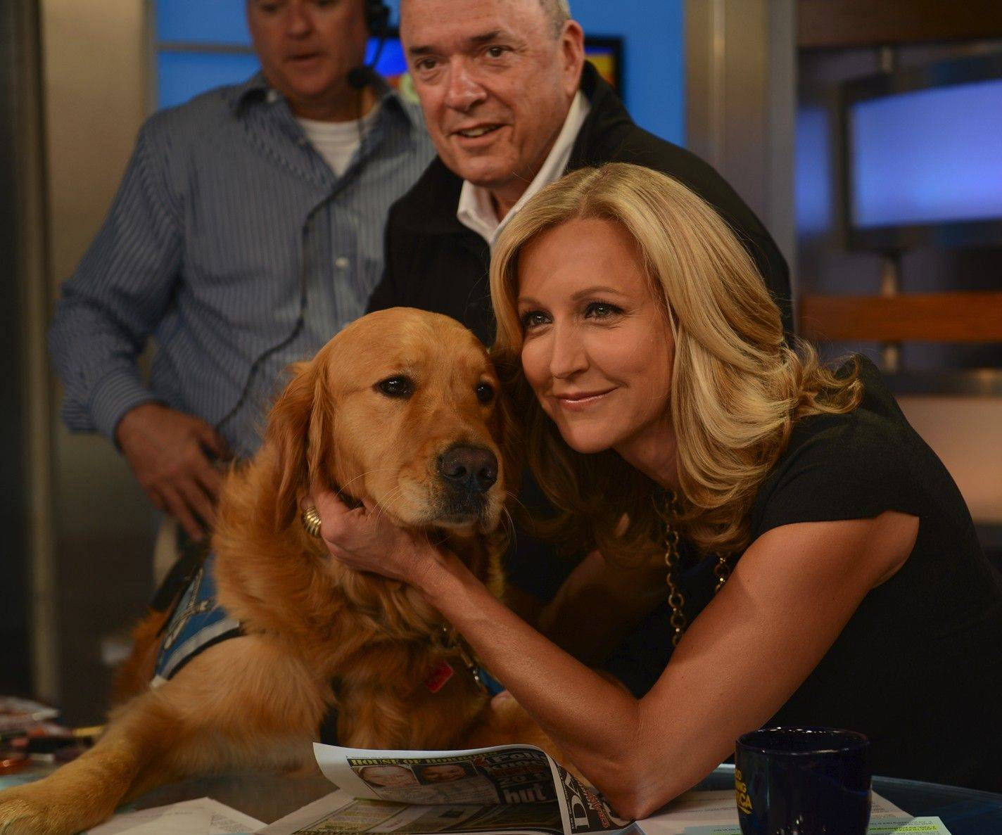 "Richard Martin of Lake Barrington and K-9 Luther were featured on ""Good Morning America"" with anchor Lara Spencer."