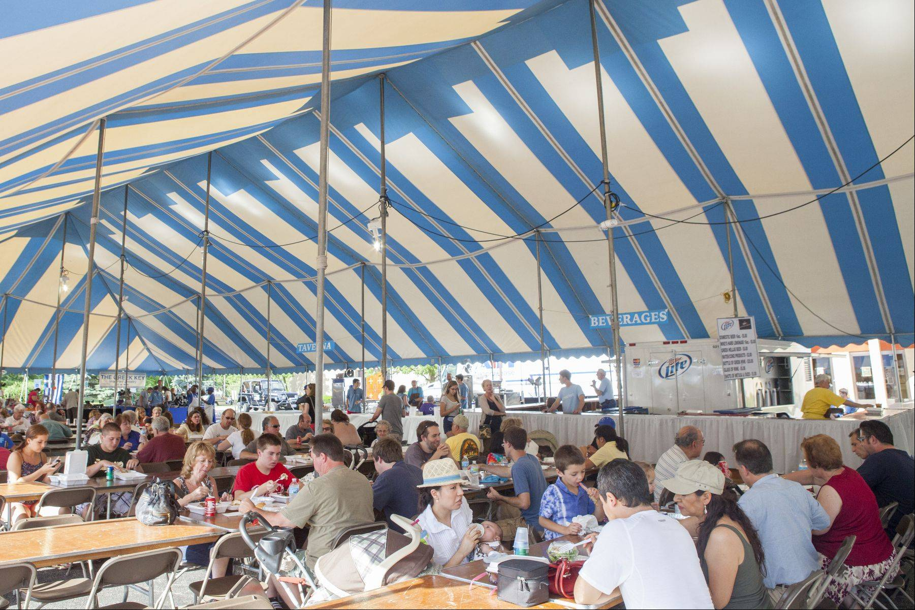 A crowd gathers at the 2012 St. Nectarios Greek Orthodox Church's annual Greek Fest in Palatine.