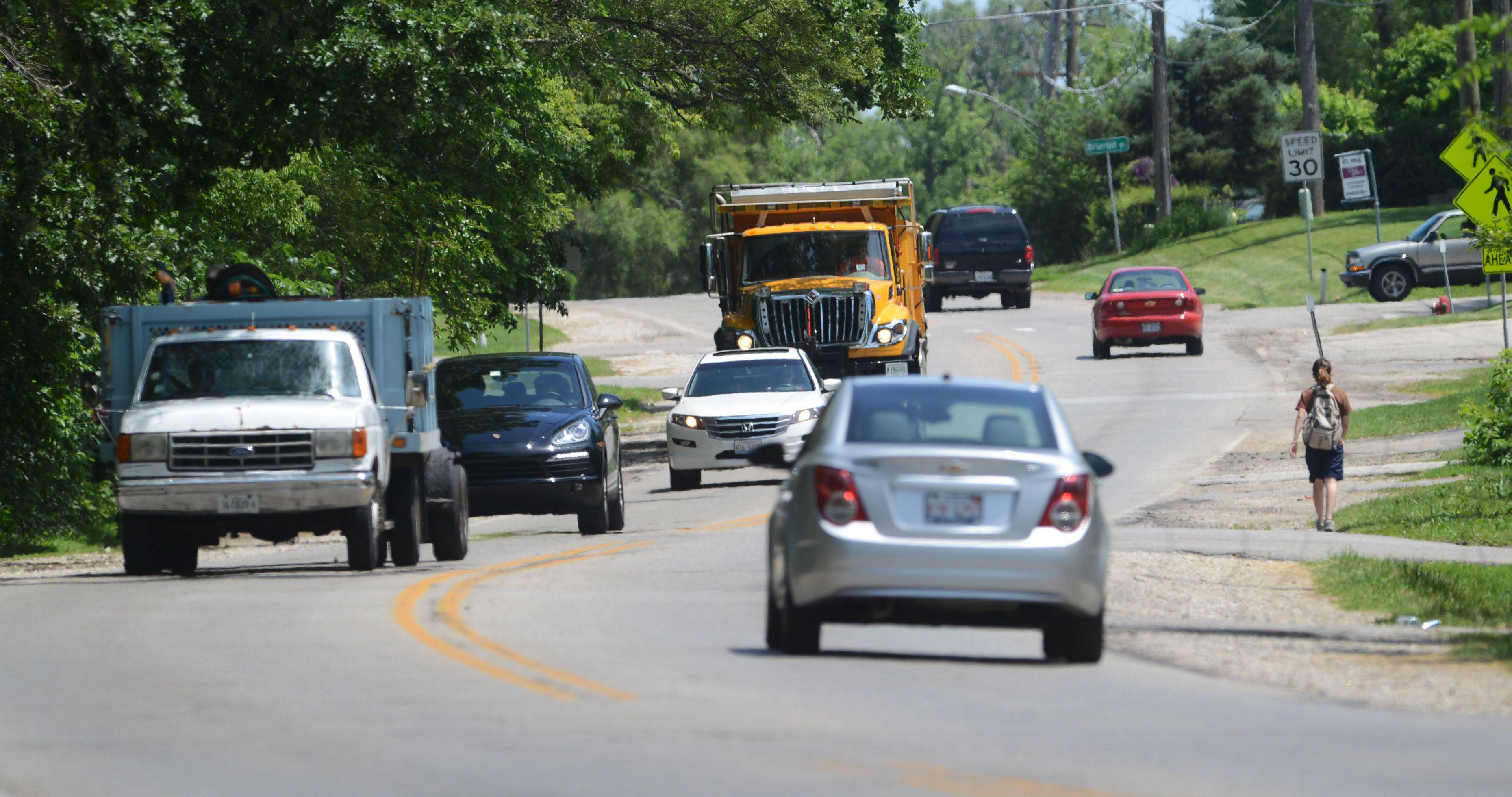 Washington Street between Hainesville and Cedar Lake roads will be widened to three lanes this summer. Construction scheduled to begin early next month also includes bike lanes, sidewalks, curb and gutters, and a new water main.