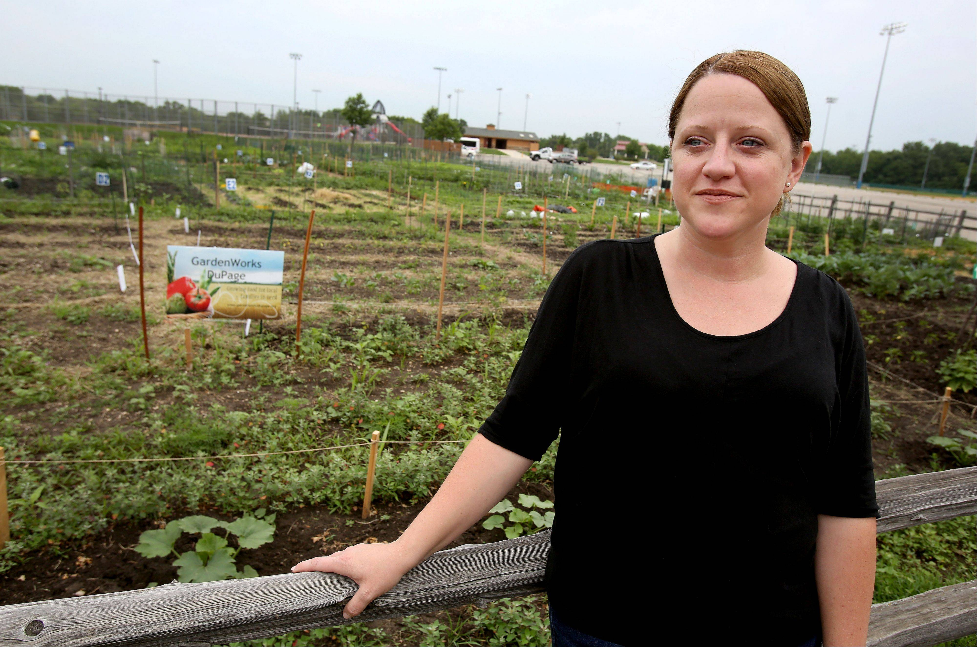 Tina Koral founded GardenWorks last year to provide families in need with raised-bed gardens and instructions on how to grow their own vegetables. The group also has planted two plots offered by the Glen Ellyn Park District at Village Green Park off Lambert Road.