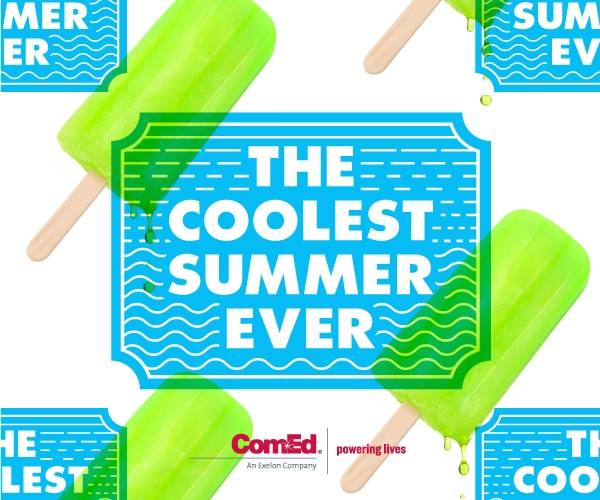 ComEd's Coolest Summer Ever, an 11-week social media promotion featuring once-in-a-lifetime prizes began on June 17 and runs until early September. Visit ComEd's Facebook page (www.facebook.com/ComEd) get a chance to win experiences at the top cultural and civic institutions in northern Illinois.