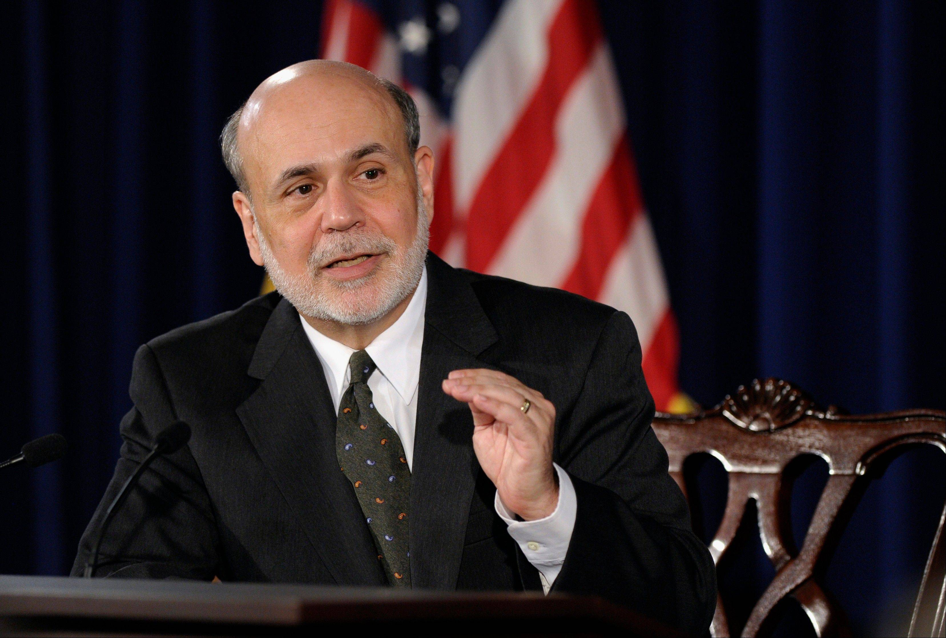 Federal Reserve Chairman Ben Bernanke speaks during a news conference in Washington Wednesday, when the Fed signaled it�s moving closer to slowing its bond-buying program,