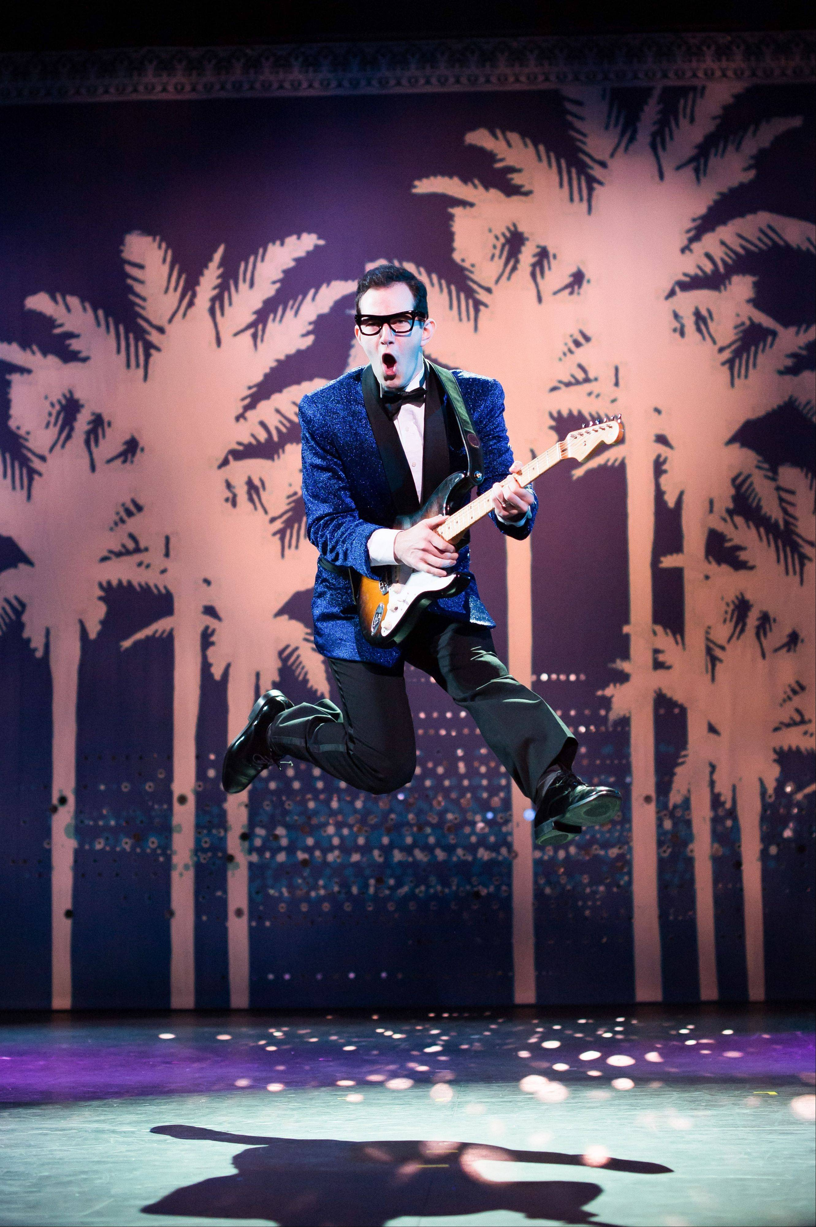 """Buddy — The Buddy Holly Story,"" with Andy Christopher alternating in the title role, tells the story of the musician's brief career. It runs through June 30 at Chicago's Cadillac Palace Theatre."