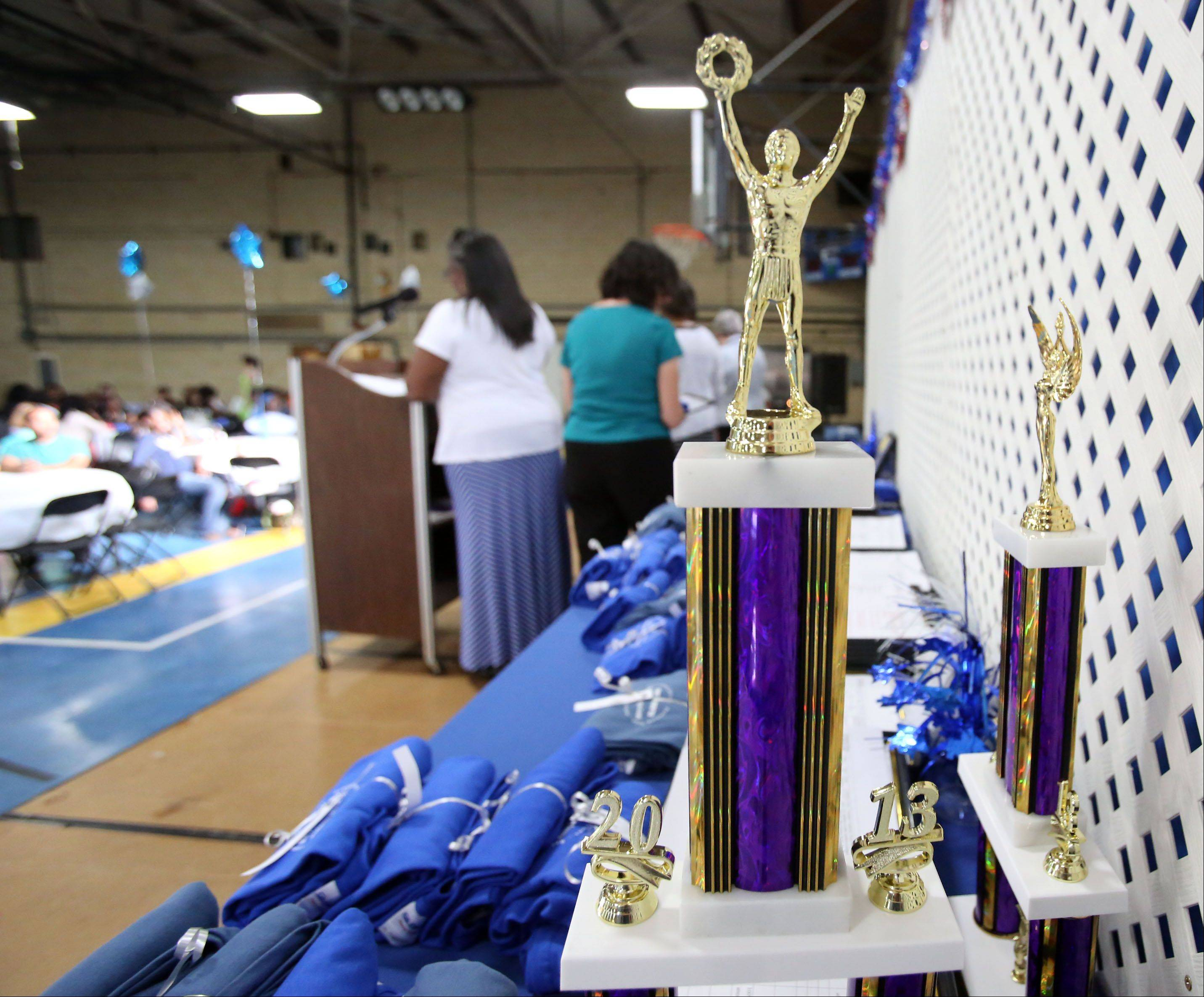 For many of the young people in Maryville Academy programs, these trophies, T-shirts and framed certificates presented during Maryville's annual awards banquet might be the first positive attention bestowed on them.