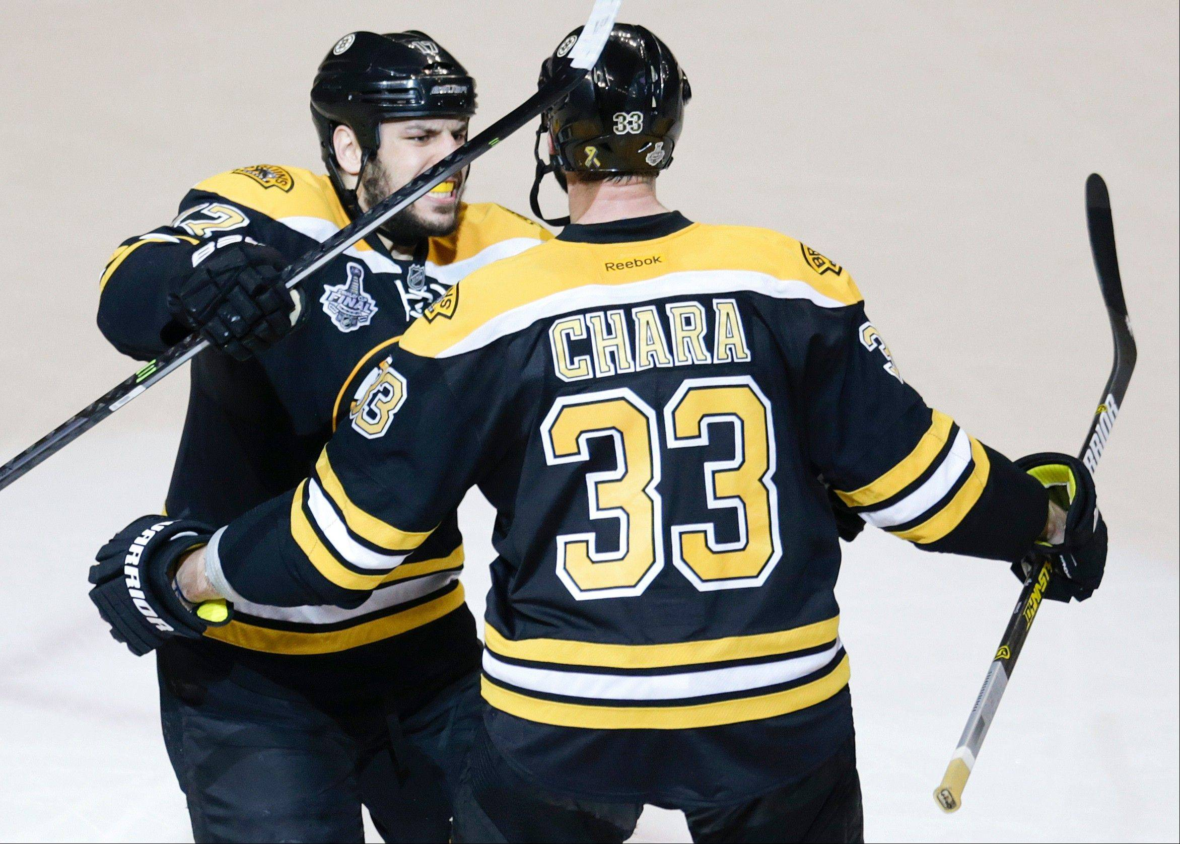 Bryan Bickell�s big hit on Boston Bruins� monster defenseman Zdeno Chara early in Game 4 was part of the Hawks� strategy to engage Chara and make him skate and it worked to perfection on Wednesday.
