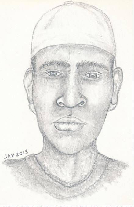 Arlington Heights Police sketch of suspect.