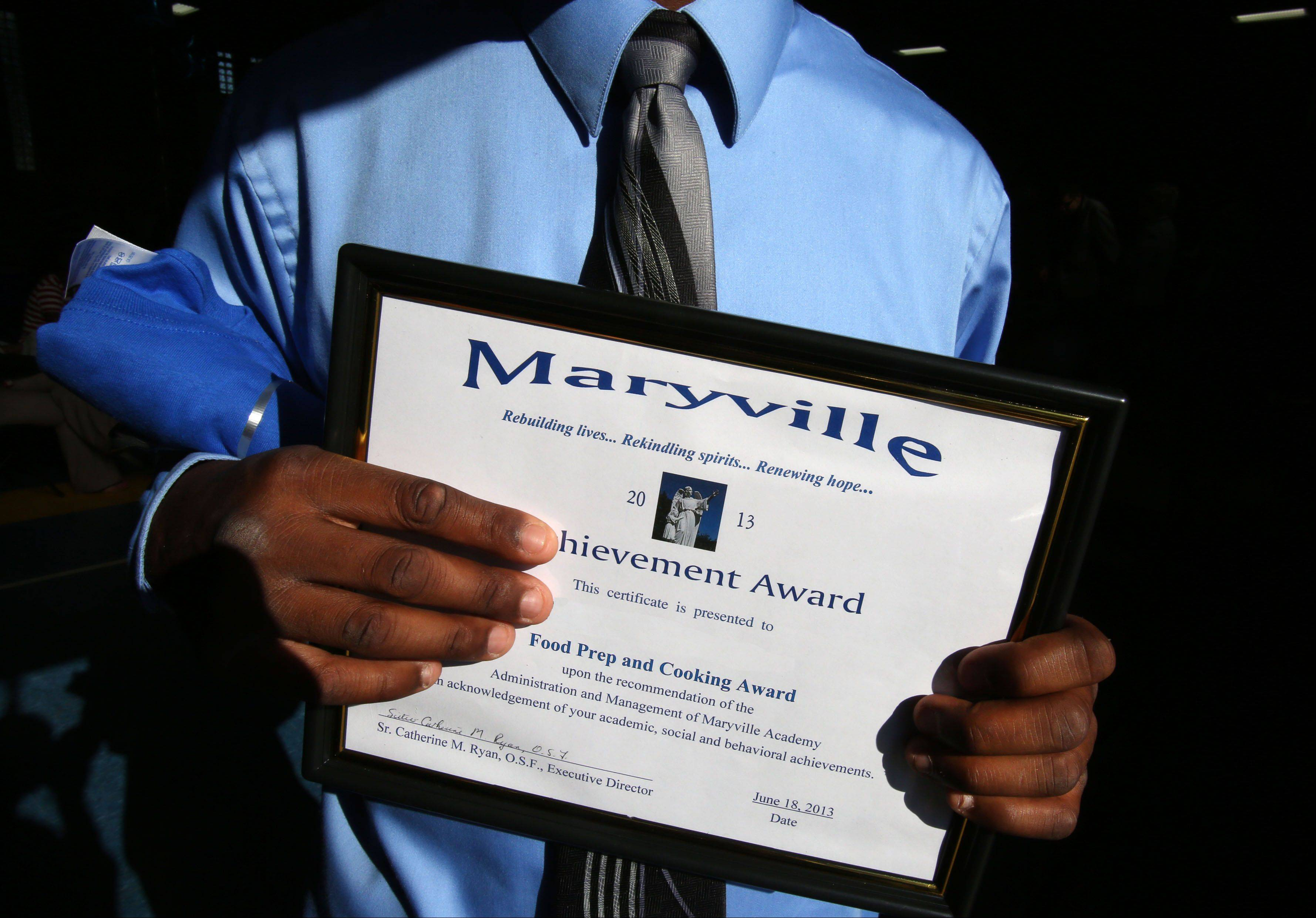 Awards such as this one for excellence in food preparation and cooking could be the first positive acknowledgment in the lives of abused and neglected children. That's why staff members say Maryville Academy's annual awards banquet is the best night of the year.