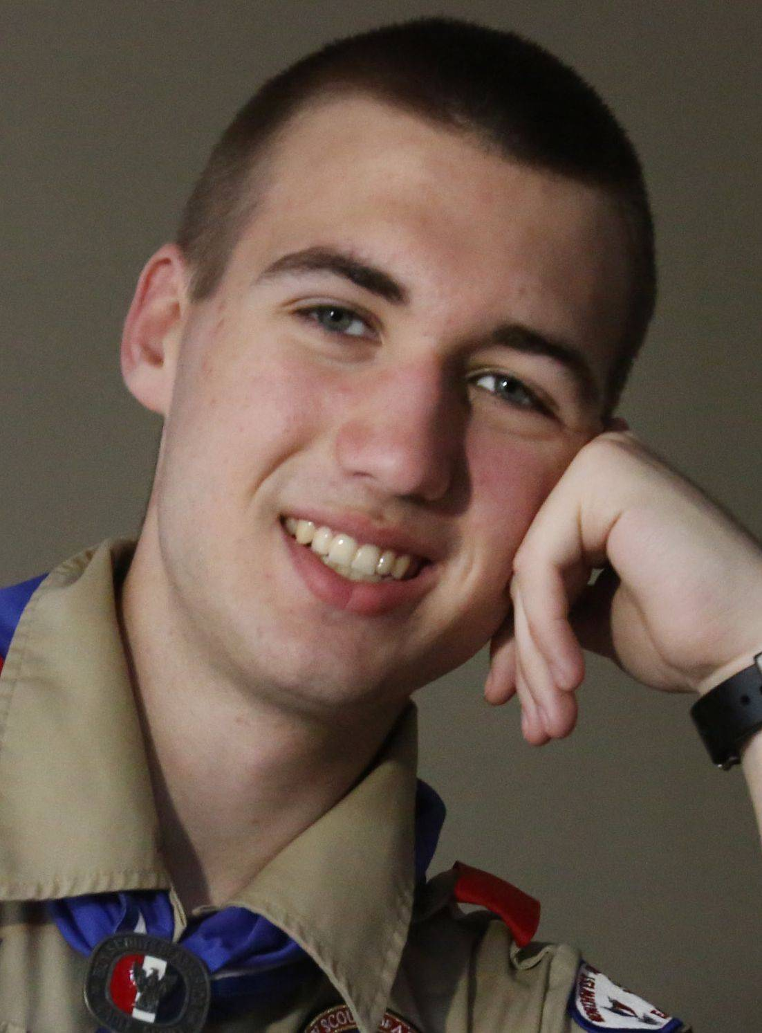 "Most friends use the word ""patriotic"" to describe Jonathan Ehret. The 18-year-old from Mount Prospect is the Illinois finalist for a national American Legion scholarship, an Eagle Scout who broke his 82-year-old troop's record for the most merit badges and a member of the Civil Air Patrol."
