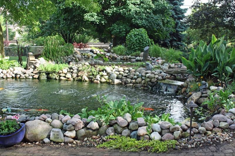 Lisle garden walk showcases private yards and landscaping for Koi pond setup