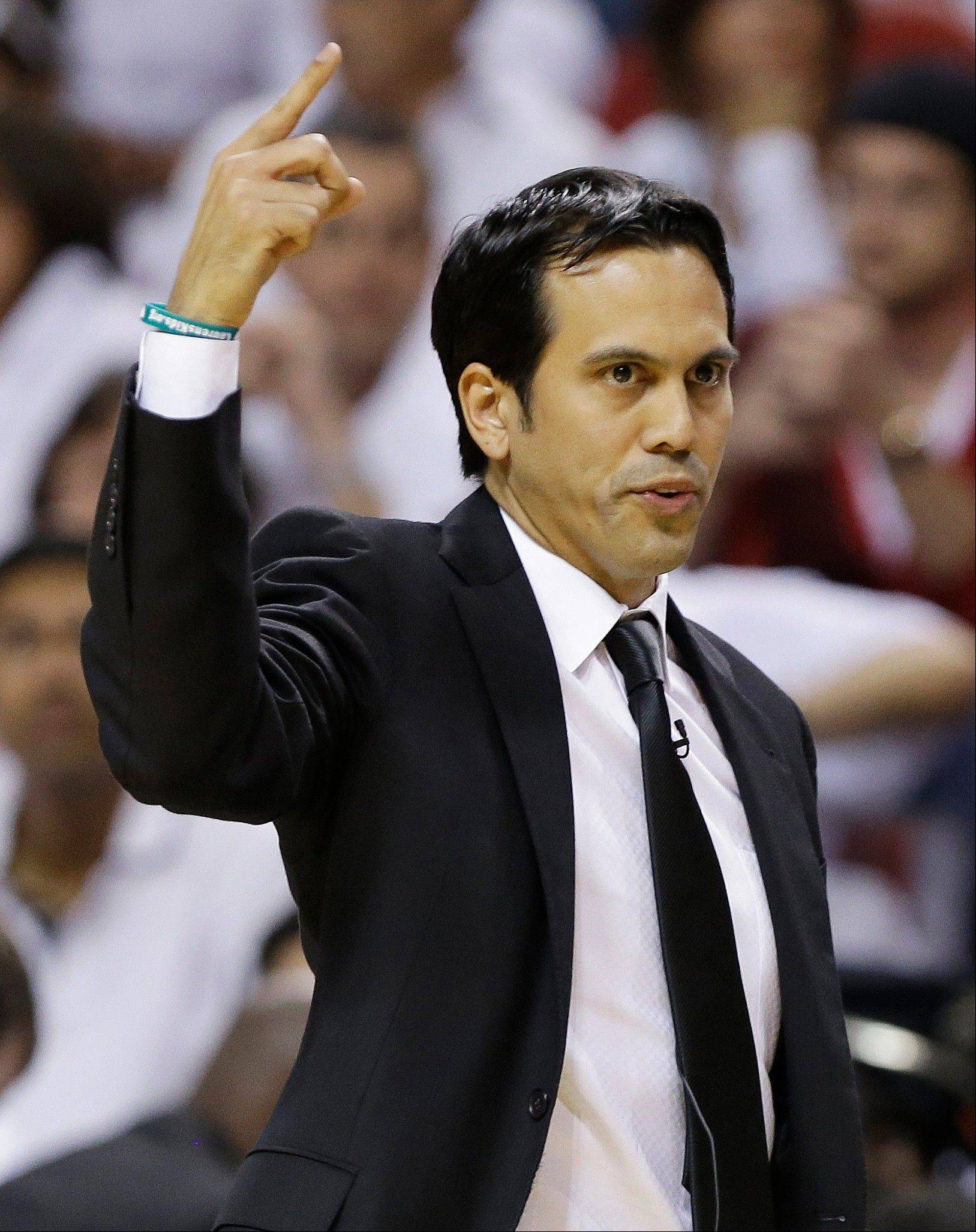 Miami head coach Erik Spoelstra has won two titles with the Heat.