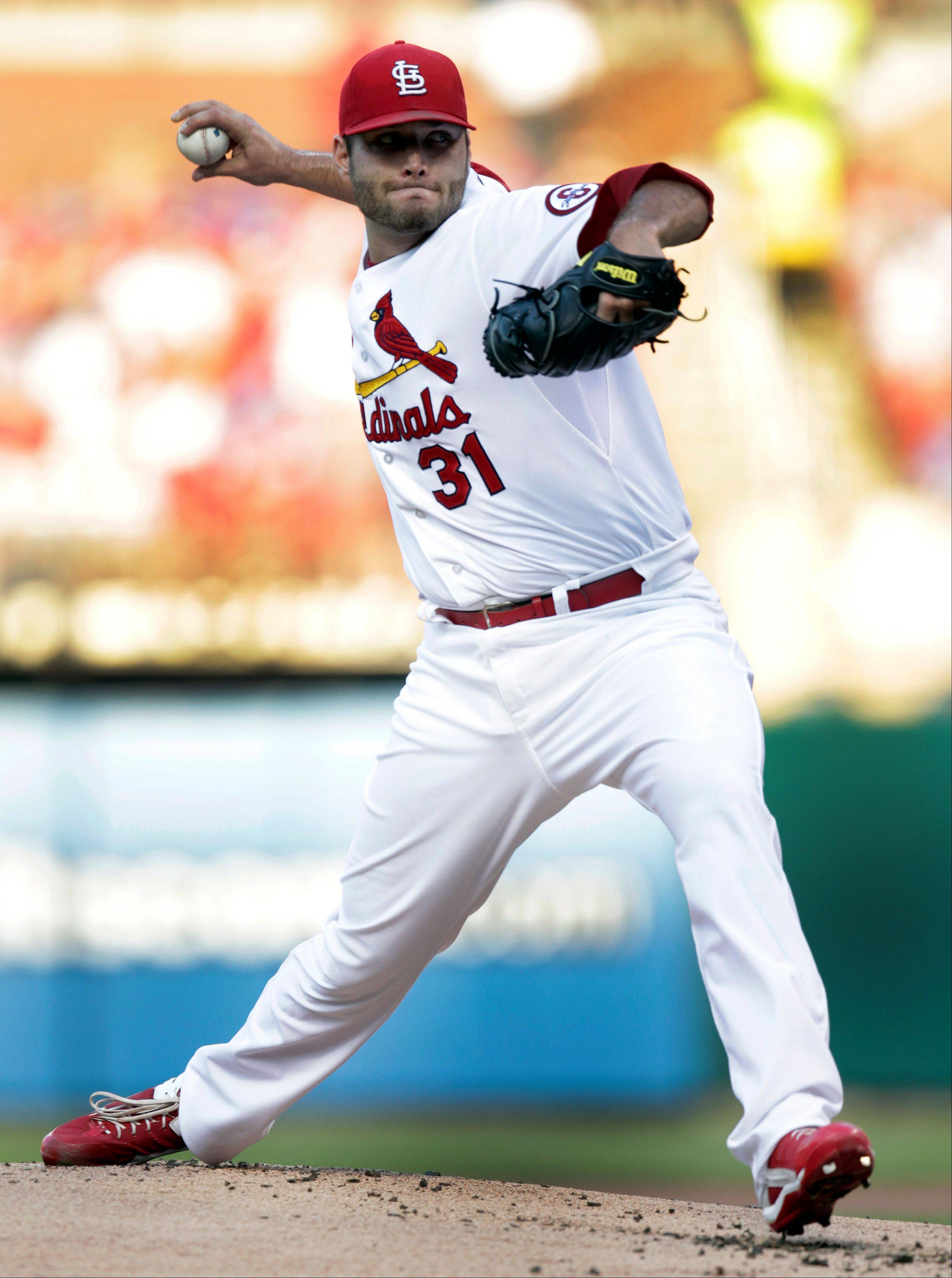 Cardinals starting pitcher Lance Lynn has won nine straight at Busch Stadium.