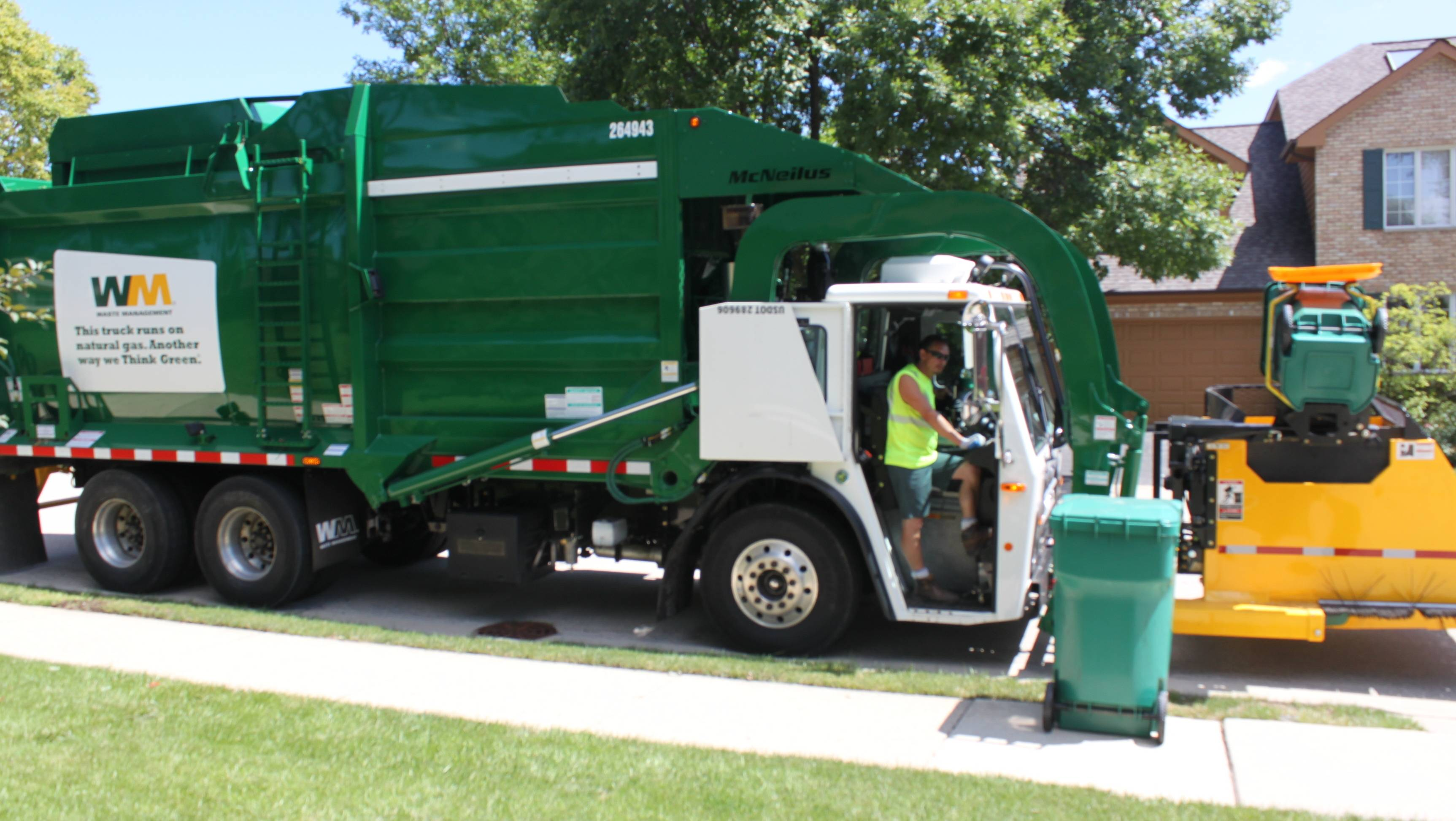Children are fascinated by garbage trucks and how they work, but for safety's sake Waste Management asks parents to keep children a safe distance as trucks come down their streets.