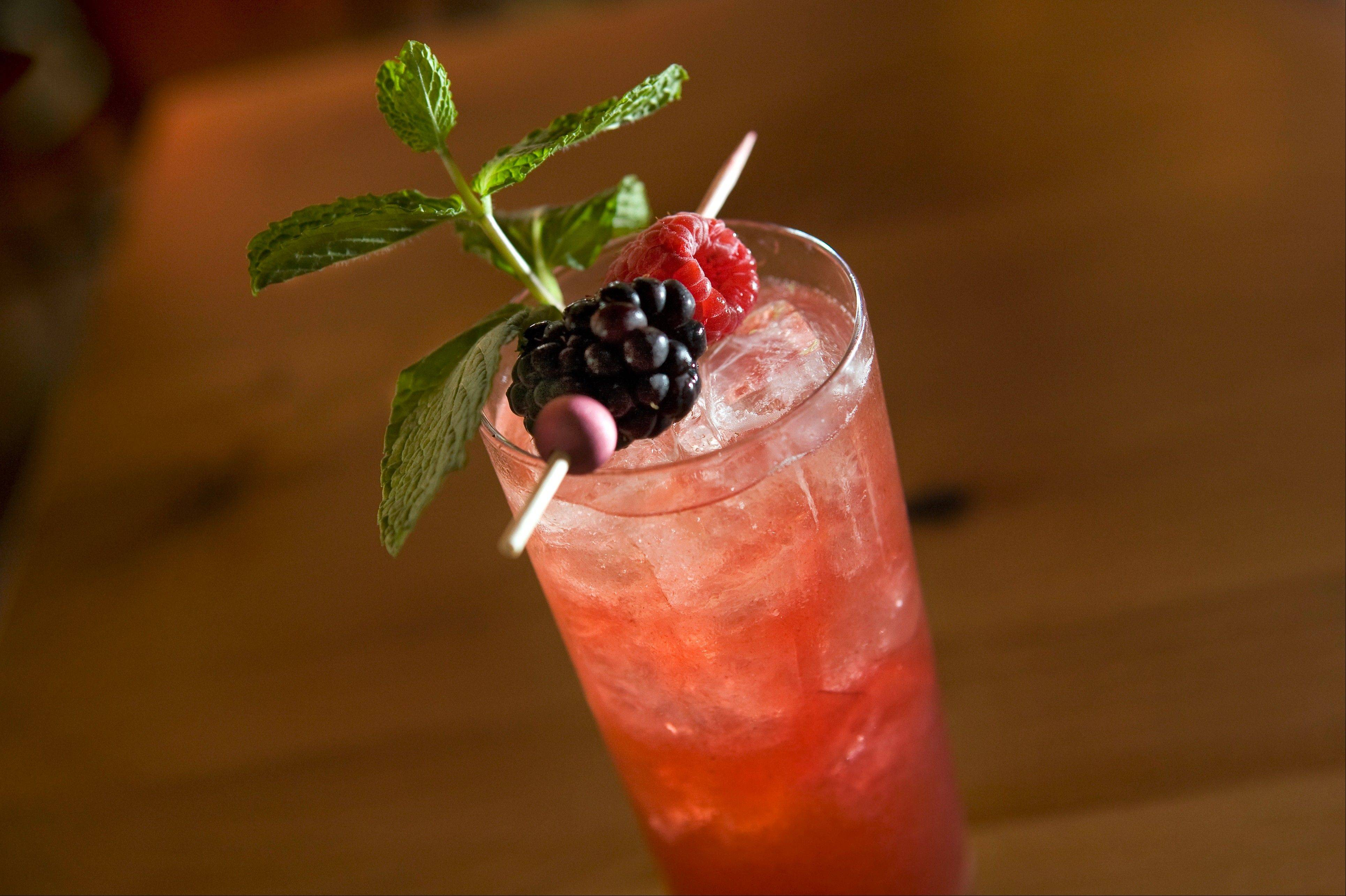 In honor of the Stanley Cup finals, Rosebud is mixing up a Blackhawks Berry Mojito at select restaurants.