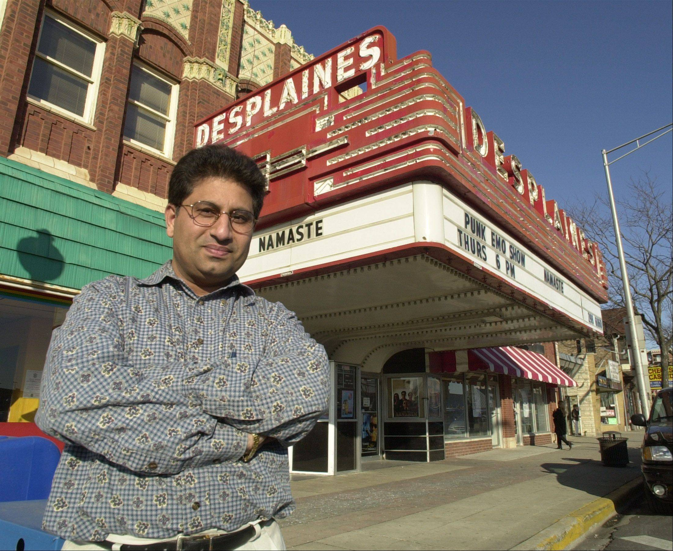 Dhitu Bhagwakar is owner of the Des Plaines Theatre, which is reopening Saturday after five months spent repairing a partial ceiling collapse.