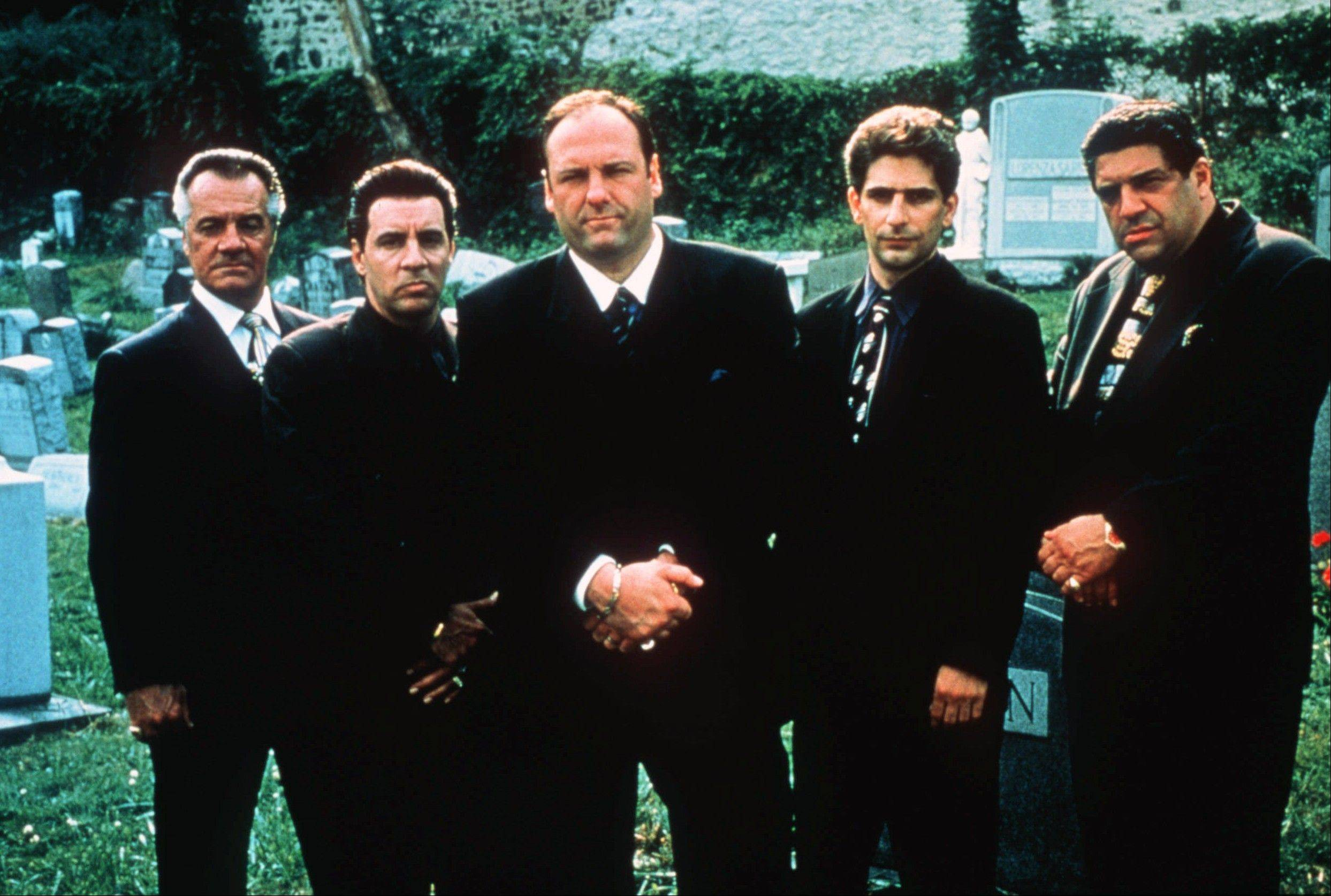 "The cast of ""The Sopranos"" was as dominant in the ''90s as Michael Jordan's Bulls team, according to Mike North. From left: Tony Sirico, Steven Van Zandt, James Gandolfini, Michael Imperioli and Vicint Pastore. Gandolfini died Wednesday in Italy at age 51."