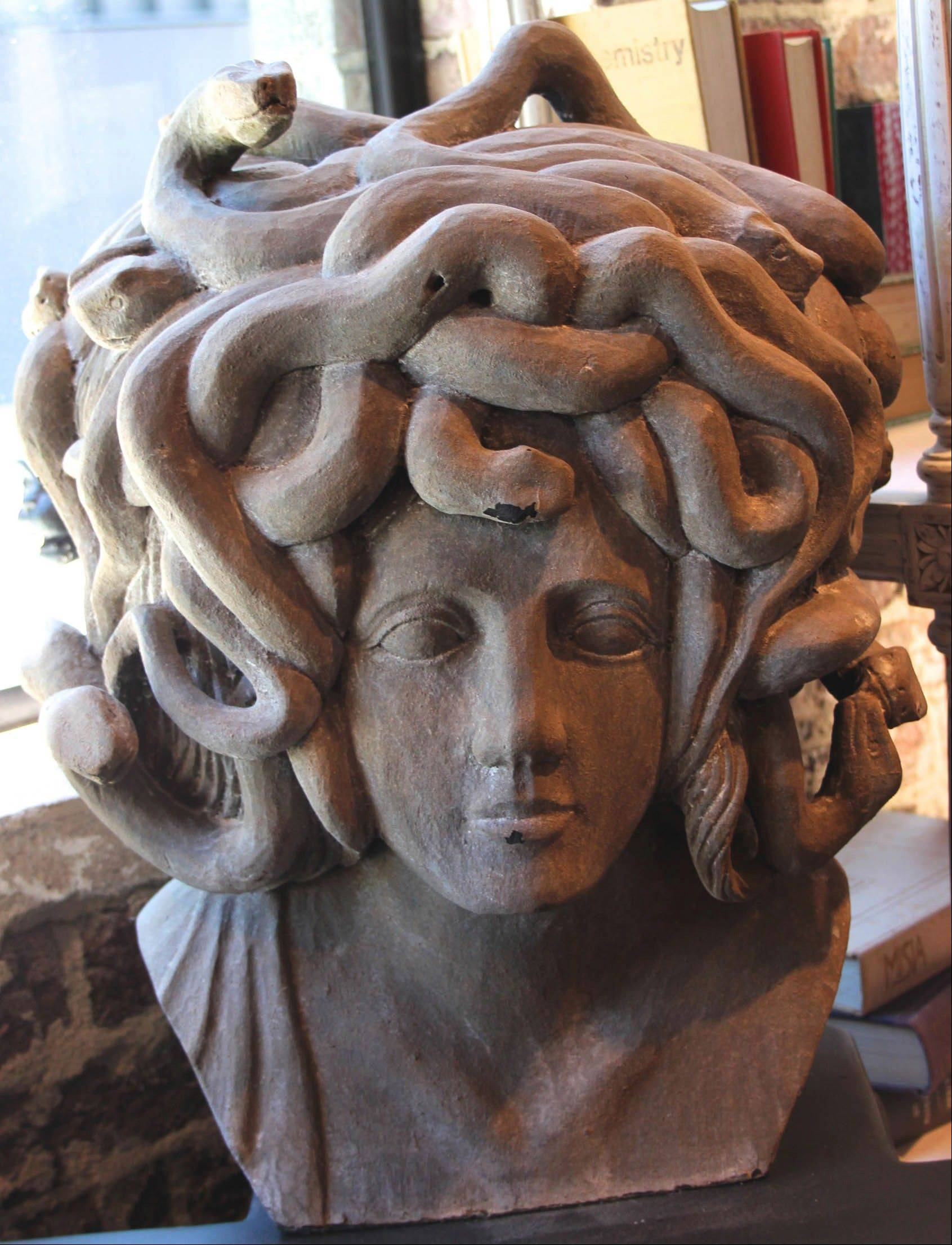 A driftwood bust of Medusa by Noir retails for $3,300.