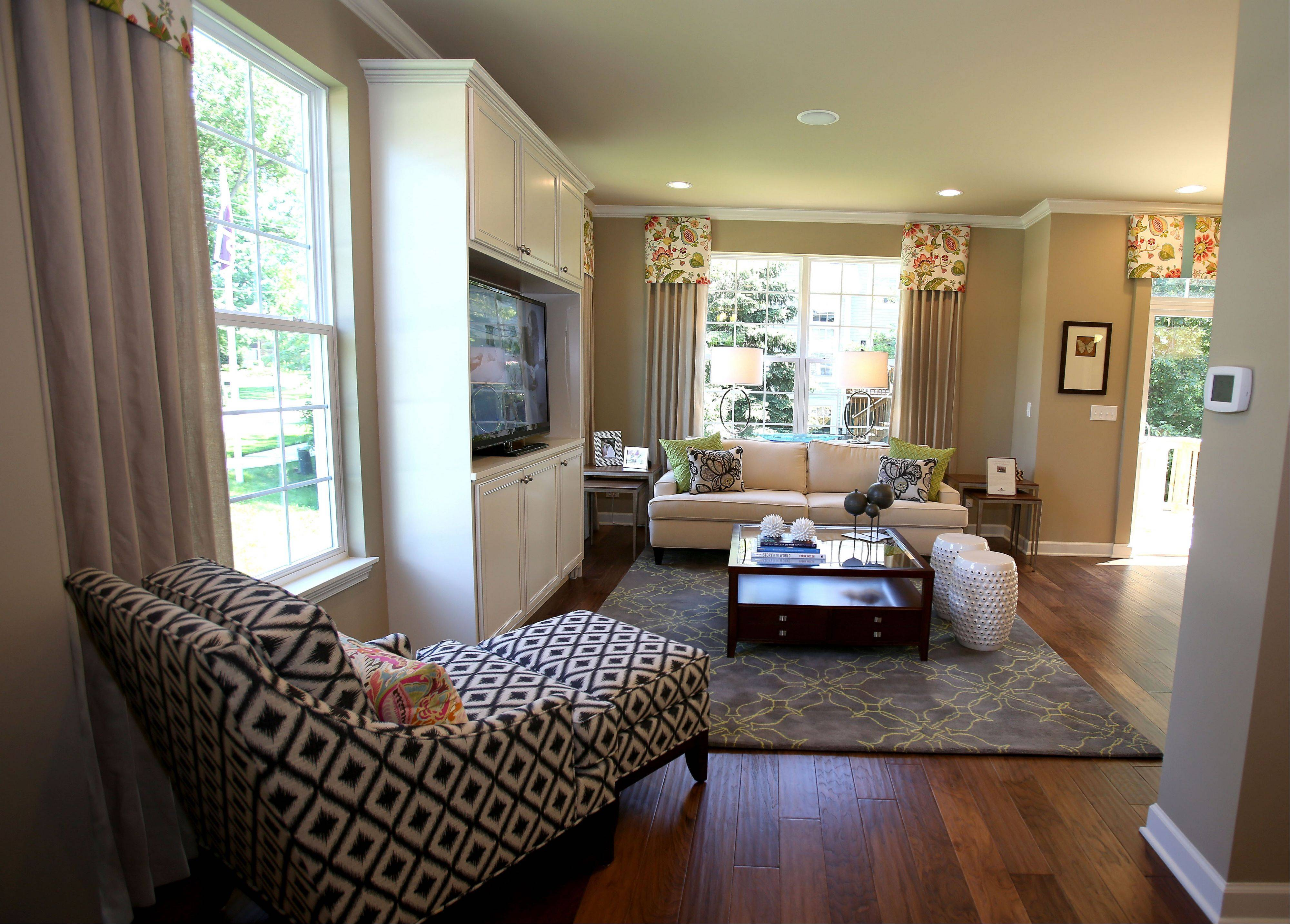 The furnished Braeden model at The Orchards, M/I Homes' new townhouse development in Lombard, is now open for viewing.
