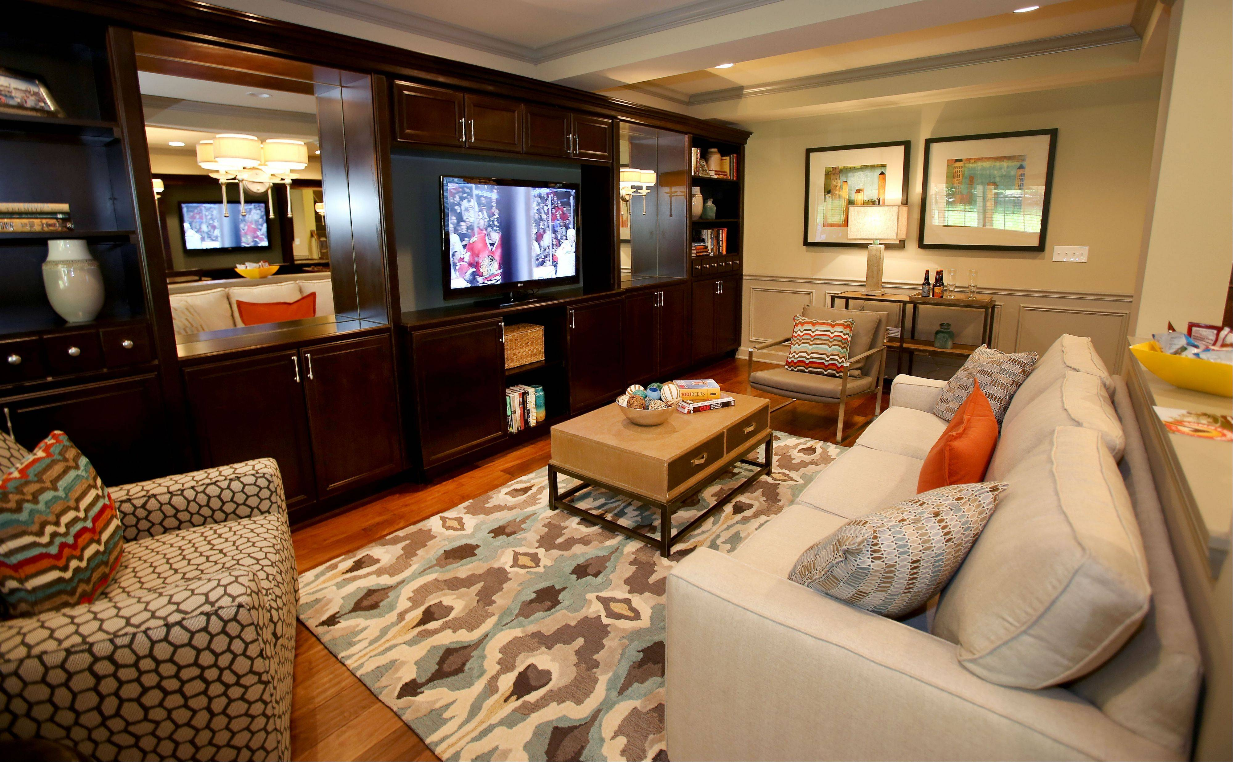 With a bar area, media room and game room, the lower level of the Braeden model is ideal for entertaining.