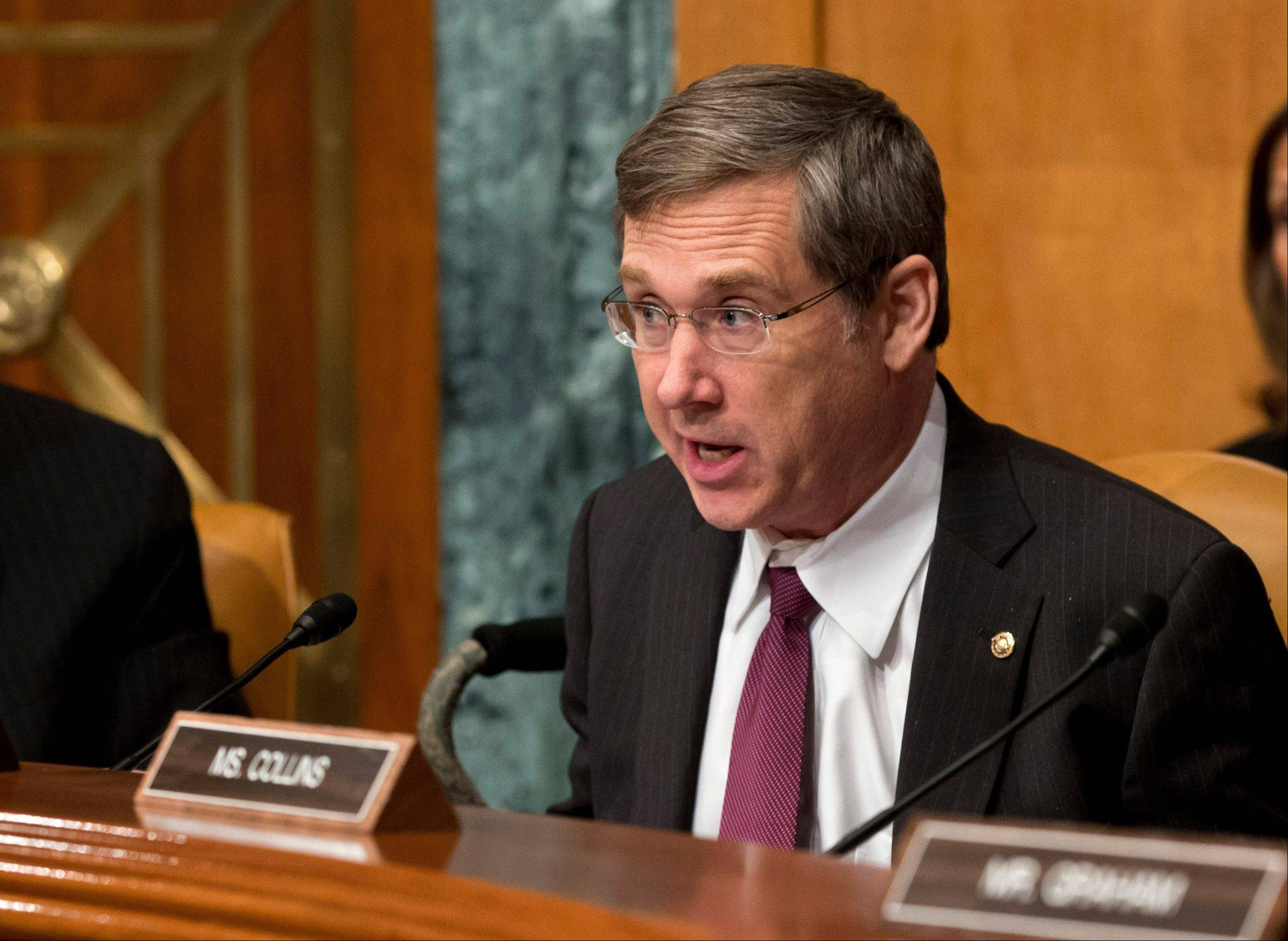 "Sen. Mark Kirk, R-Ill., said Thursday, June 20, 2013, he's been working with colleagues to craft immigration reform that's gaining momentum in the Senate. He says the measure will secure the U.S. border to the south and create a ""tough but fair"" path to citizenship."