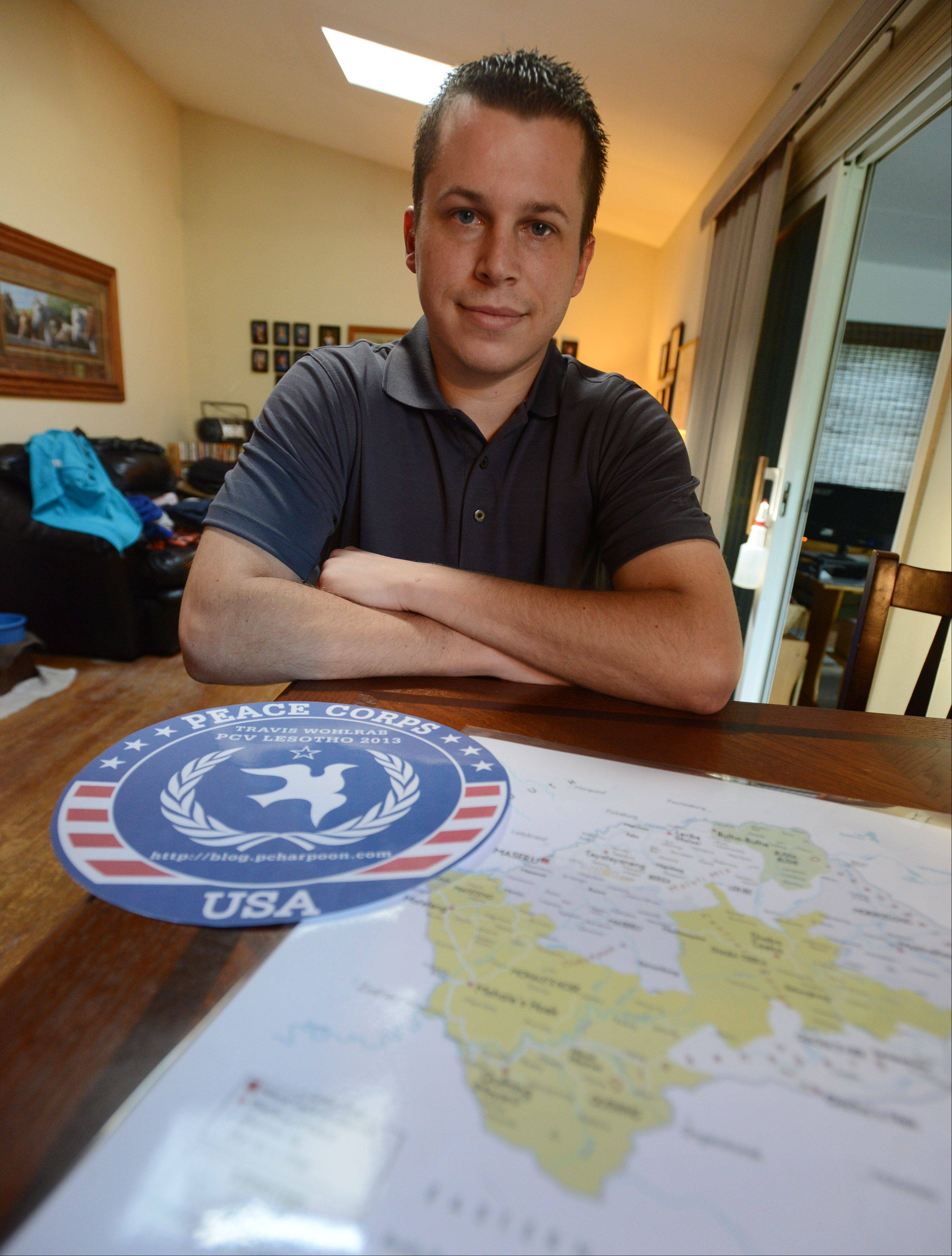 Travis Wohlrab, a Vernon Hills High School graduate, is traveling to southern Africa for a two-year volunteer commitment with the Peace Corps.