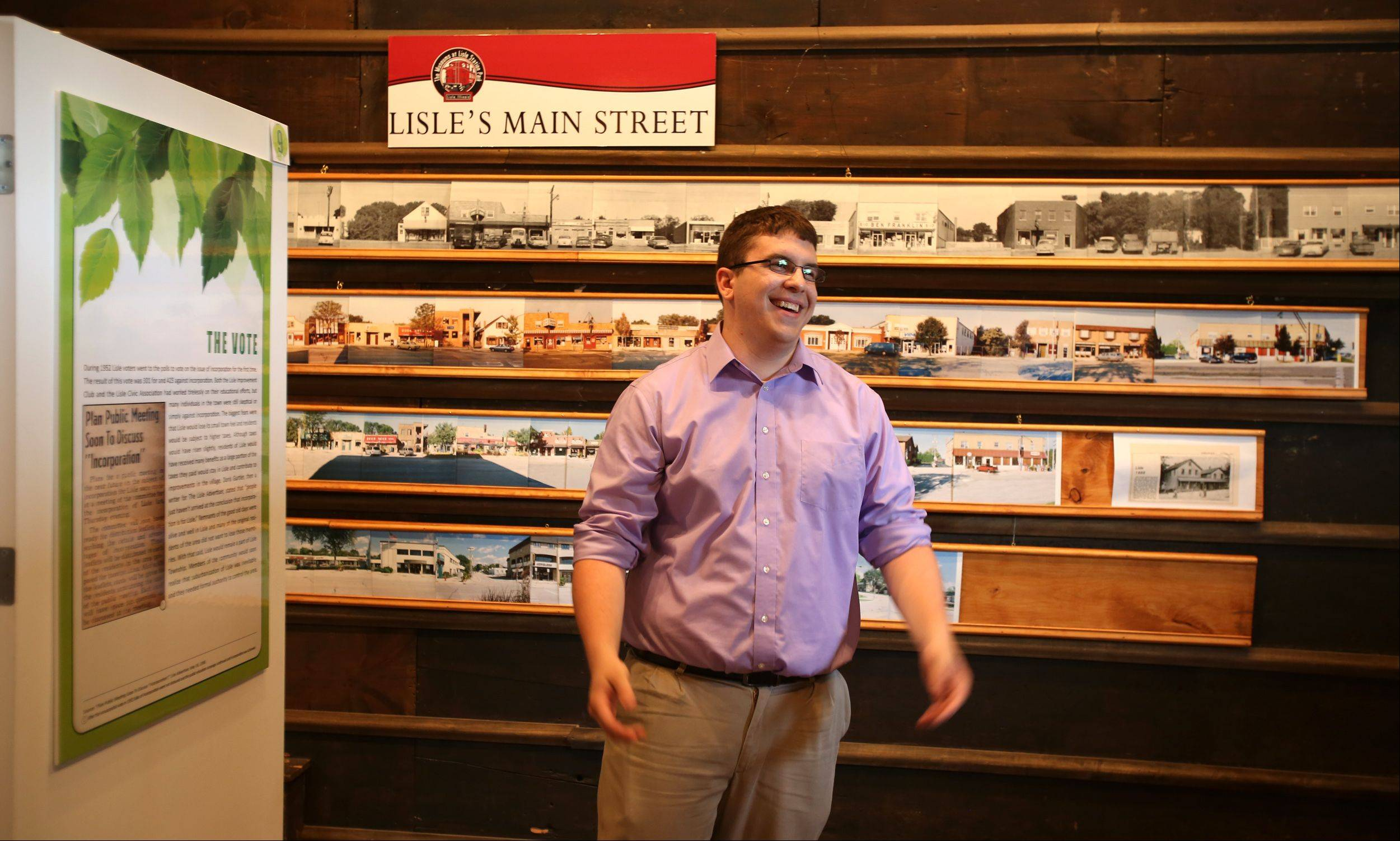 Museum Curator Brian Failing organized a new exhibit, �Sustaining Lisle�s Heritage: The Story of Lisle�s Incorporation,� which opened Saturday at the Depot Museum at Lisle Station Park. The exhibit is open through Oct. 5.