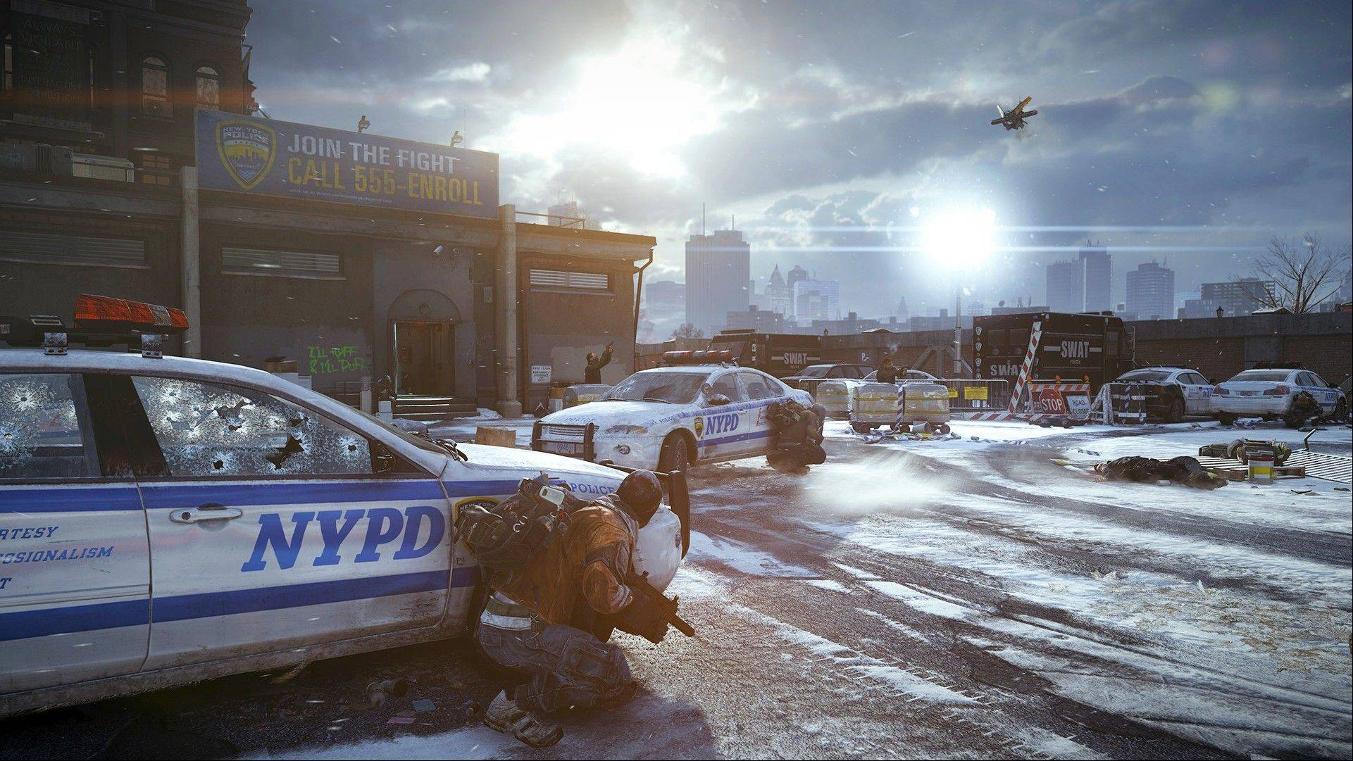 "This video game image released by Ubisoft shows a scene from ""Tom Clancy's The Division."""