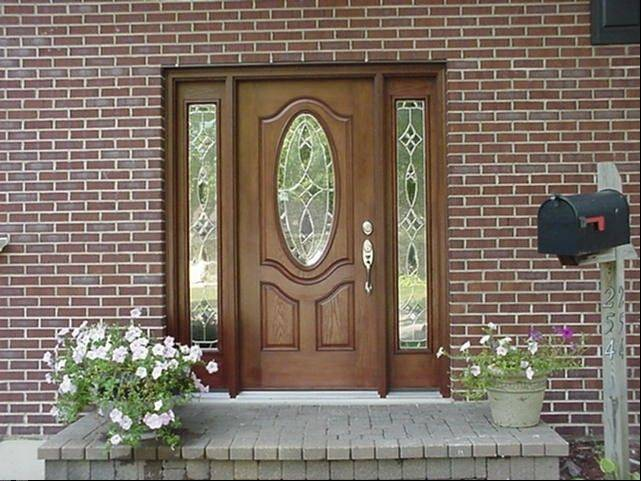 Entry doors with decorative leaded and beveled glass remain popular. Aspen Exterior carries entry doors from several manufacturers.
