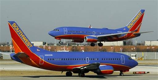 Southwest canceled 43 flights Friday night and 14 more Saturday morning.