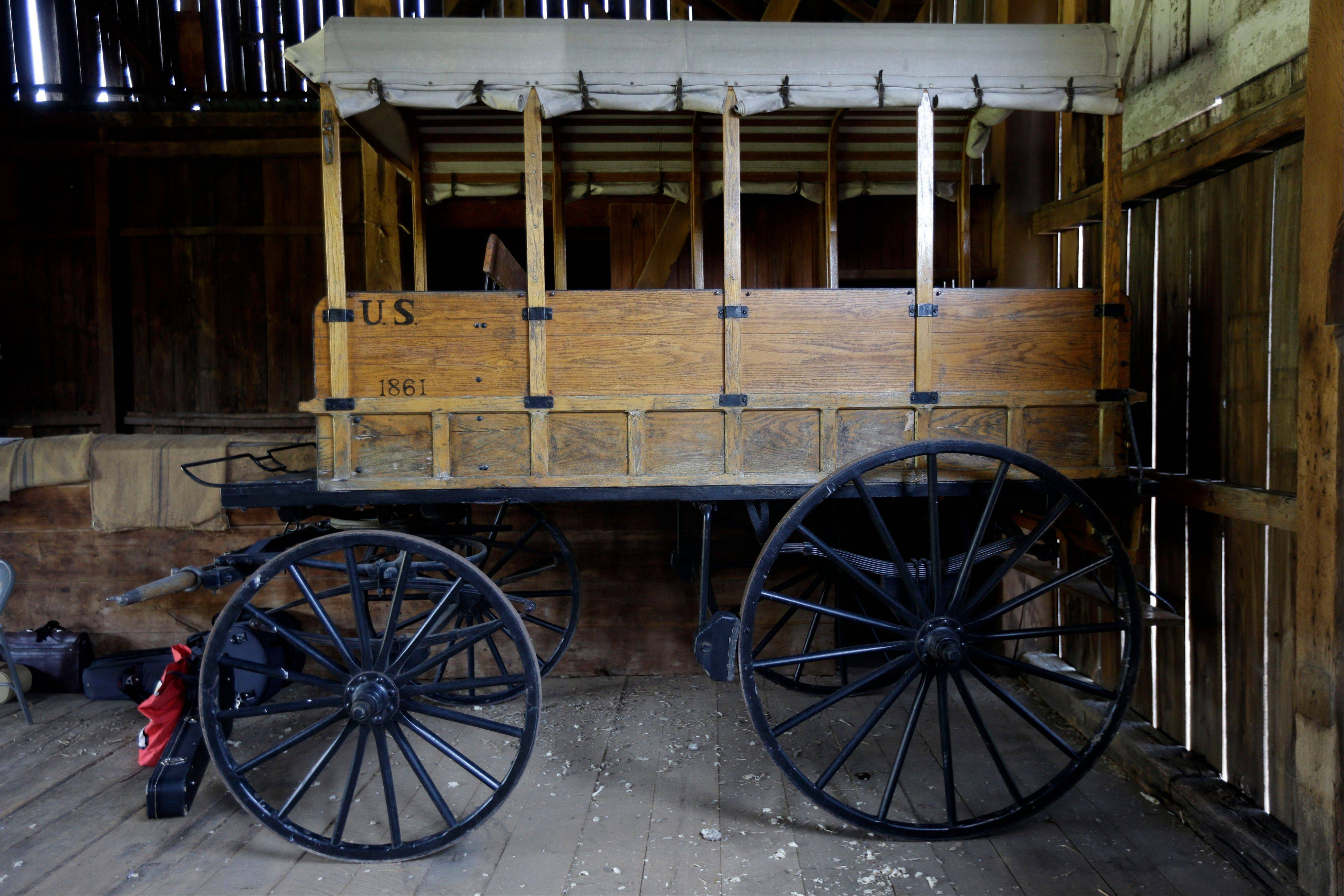 A replica of a Rucker ambulance at the Pry House Field Hospital Museum.