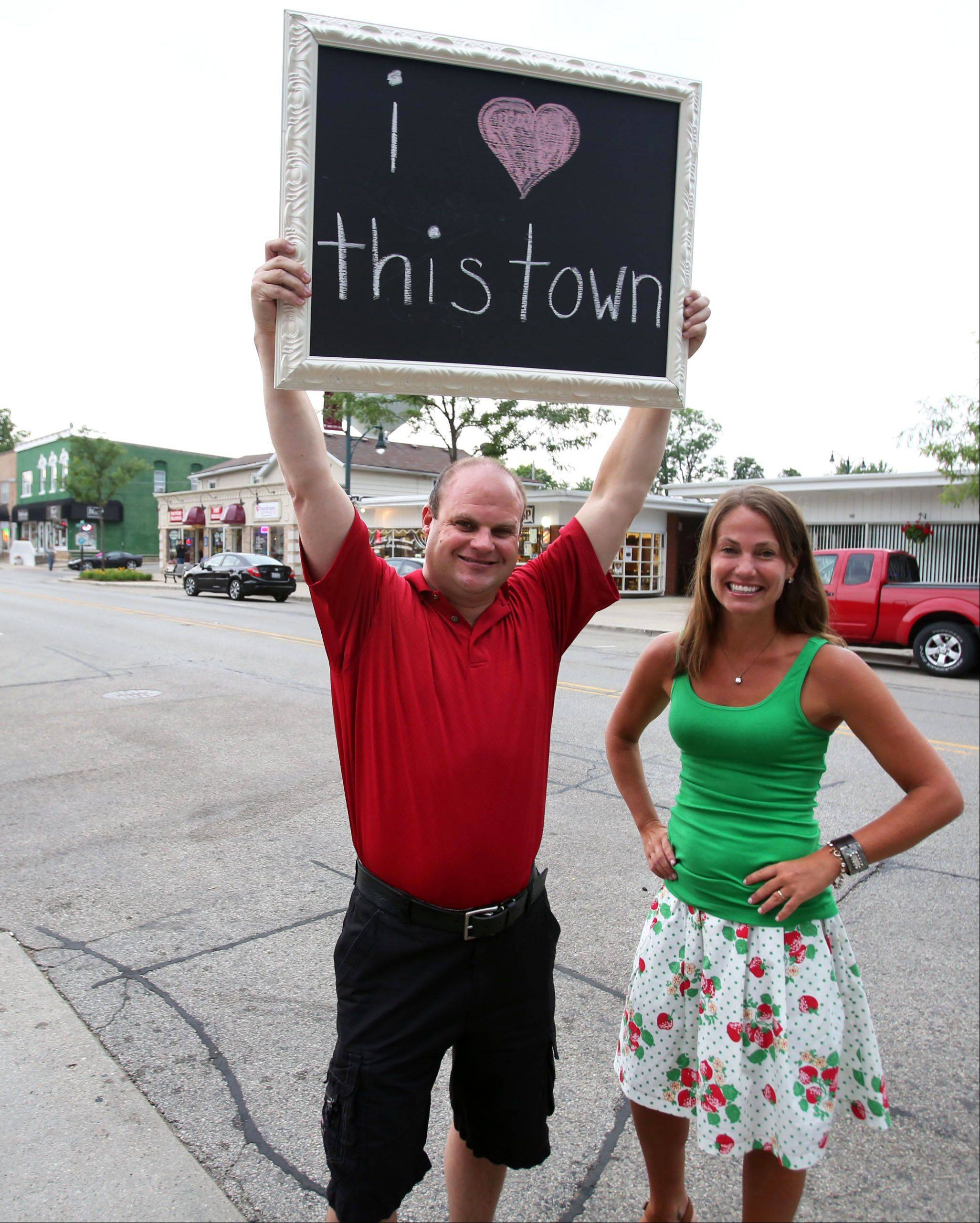 Business owners Randy Koch and Sara Carlson are preparing to film and produce a promotional video about Wauconda. They'll be shooting at several locations in town, including along the village's Main Street next weekend.
