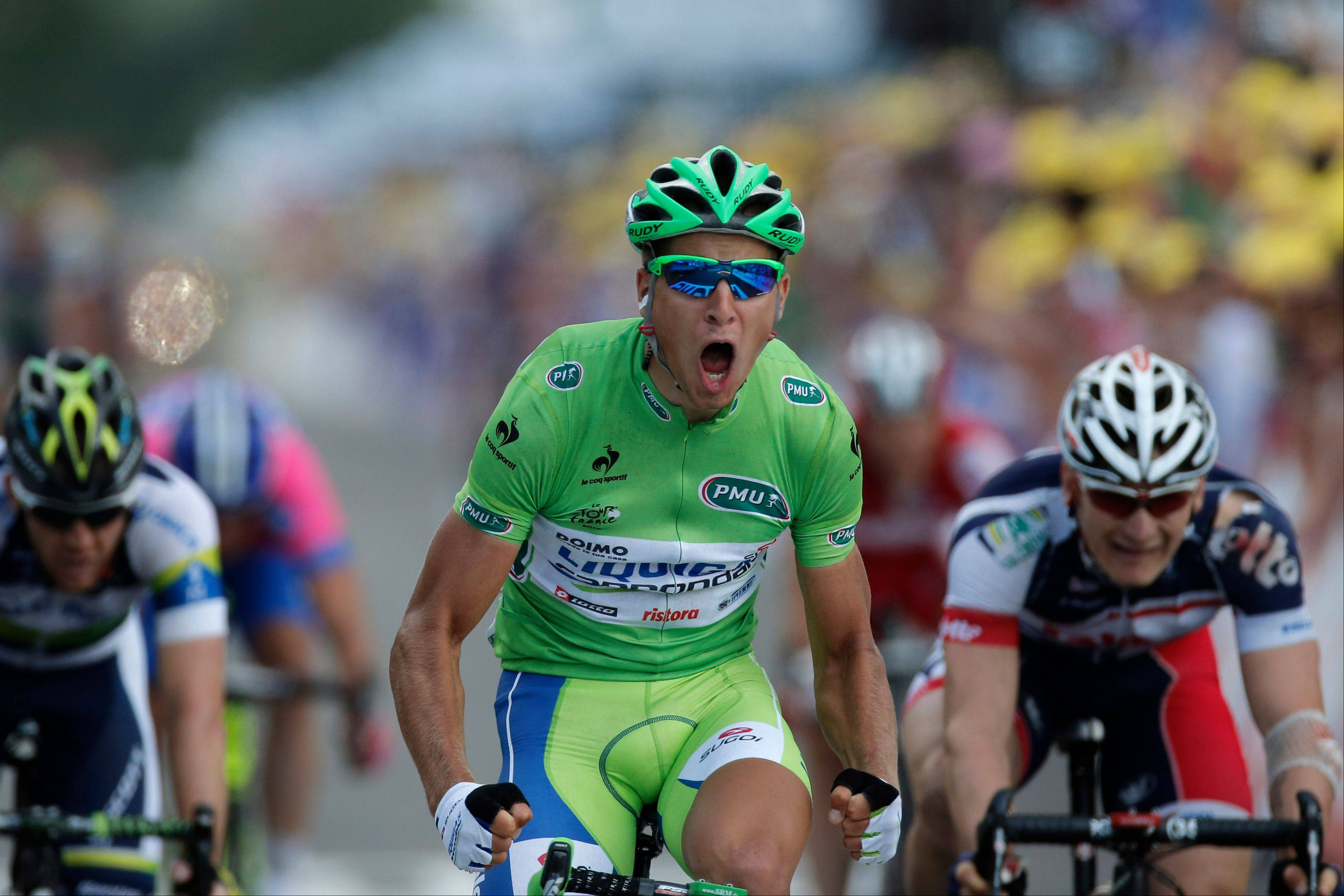 Peter Sagan won the green points jersey at last year's Tour de France.
