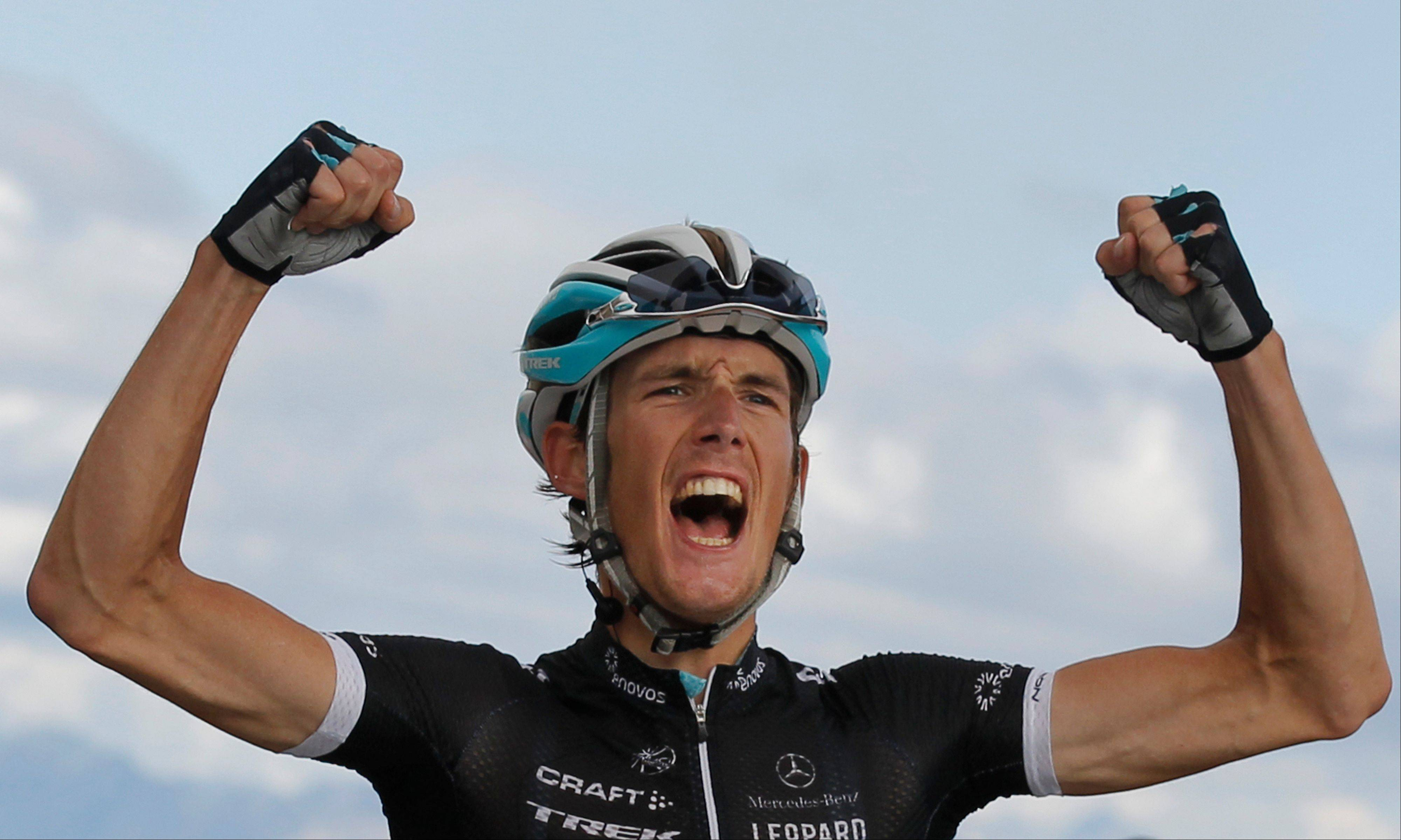 Andy Schleck finished on the podium each year from 2009 to 2011.