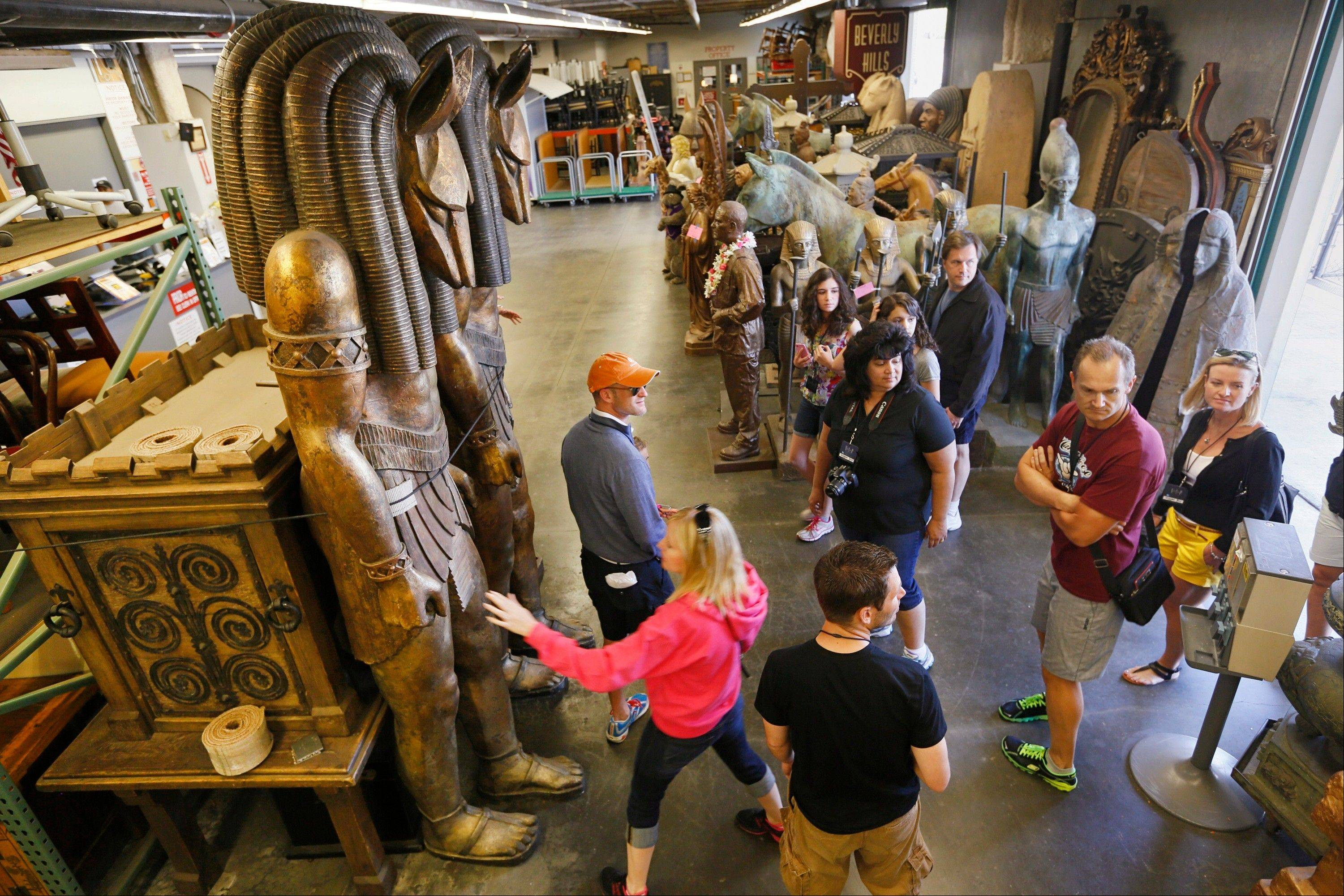 Visitors enjoy the VIP Experience tour at Universal Studios Hollywood in Los Angeles. Many parks now have VIP tours with perks usually reserved for celebrities � private tour guides, no waits for the biggest attractions, reserved seating at shows and parades along with behind-the-scenes peaks at places normally off limits.