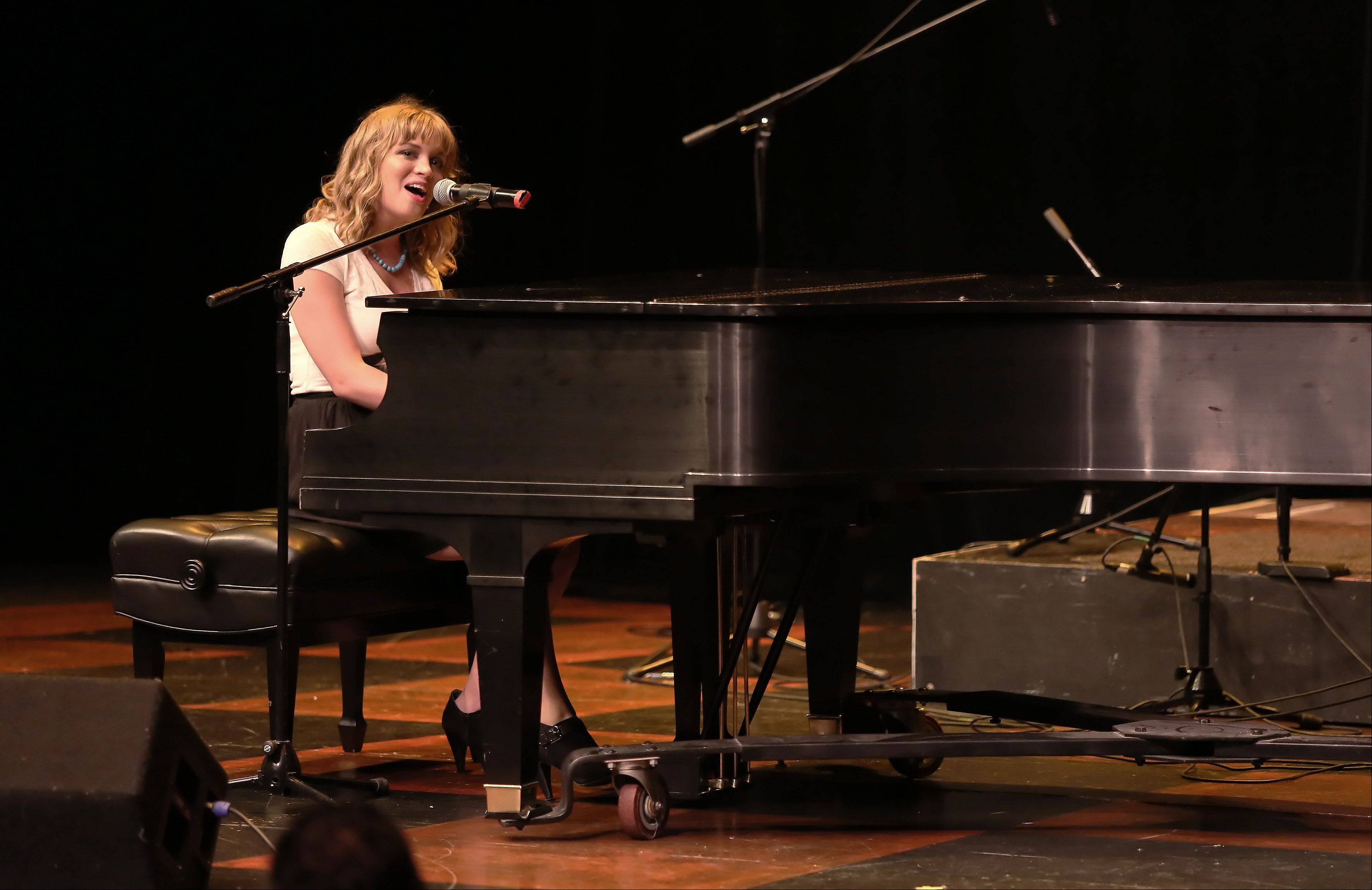 Kristin Brintnall of Wheaton performs during the first round of finalists for the Suburban Chicago's Got Talent competition Sunday night at the Metropolis Performing Arts Centre in Arlington Heights. The summer-long talent contest is presented by the Daily Herald and sponsored by the Arlington Heights Chamber of Commerce.