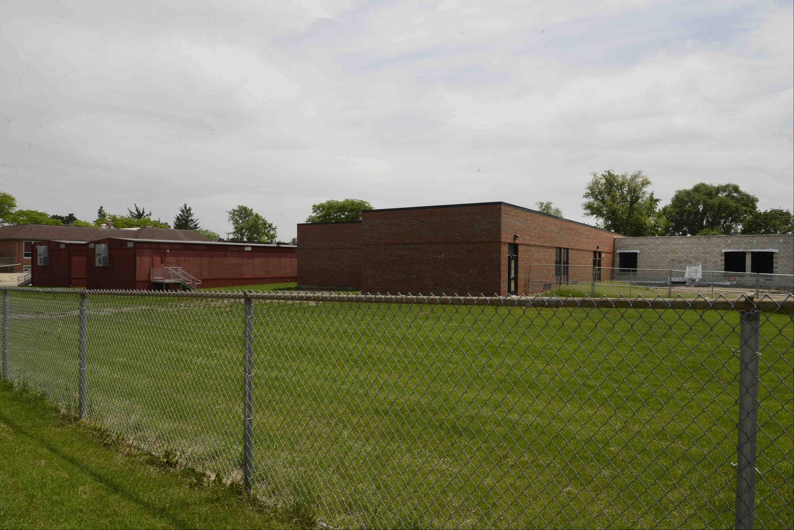 Ontarioville Elementary School in Hanover Park is getting five additional classrooms as part of a $3.5 million construction project being completed this summer. Many argue the district should skip the construction and shift its boundaries to relieve overcrowding.